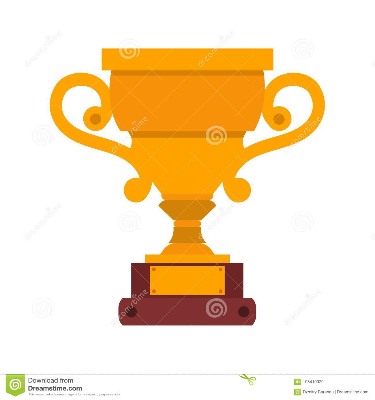 Trophy cup vector icon winner gold illustration award champion prize. Sport championship symbol victory isolated competition