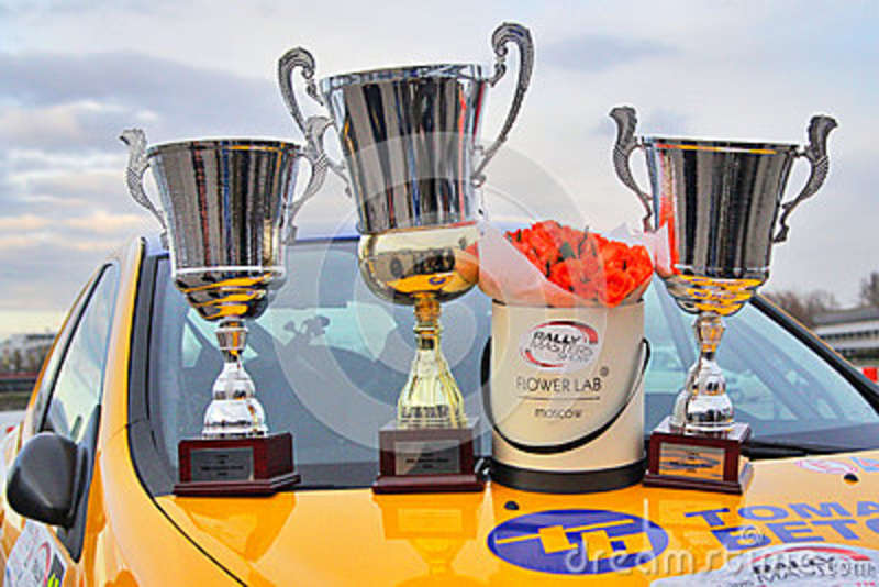 Cool Cups In The Hood | Trophy Cups And Flowers Editorial Stock Image Image Of Daytime