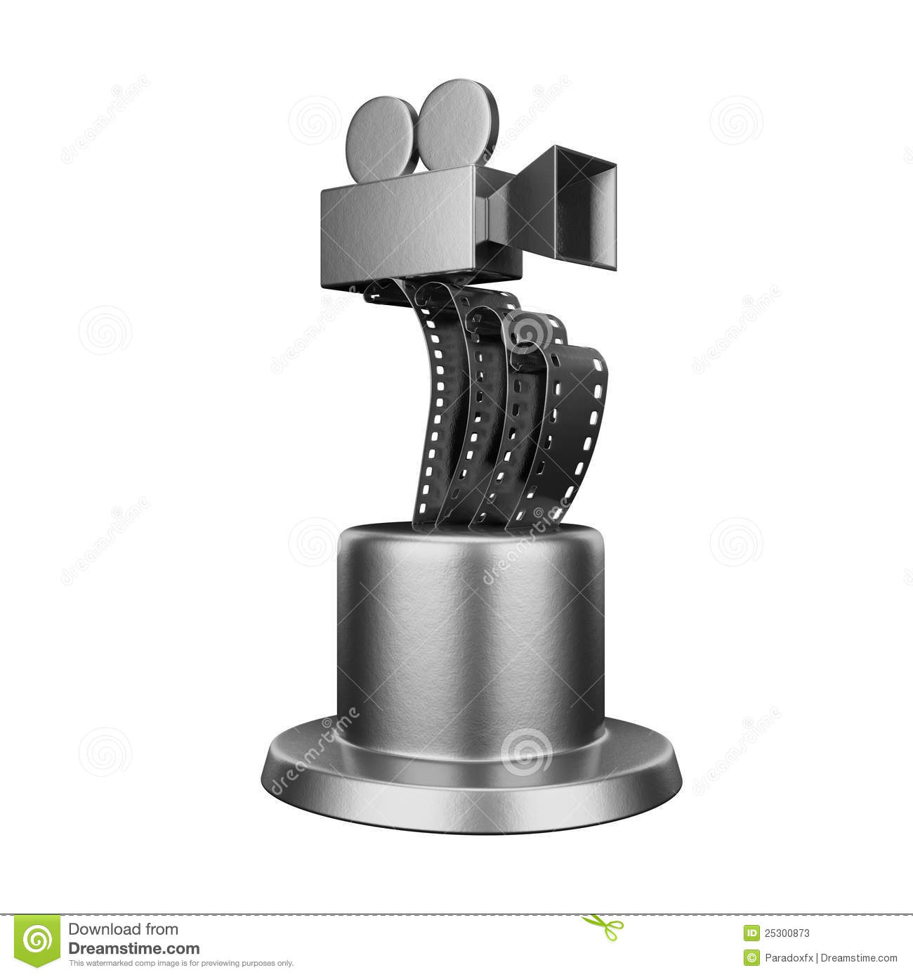 Trophy film award conceptual design isolated on white background ...
