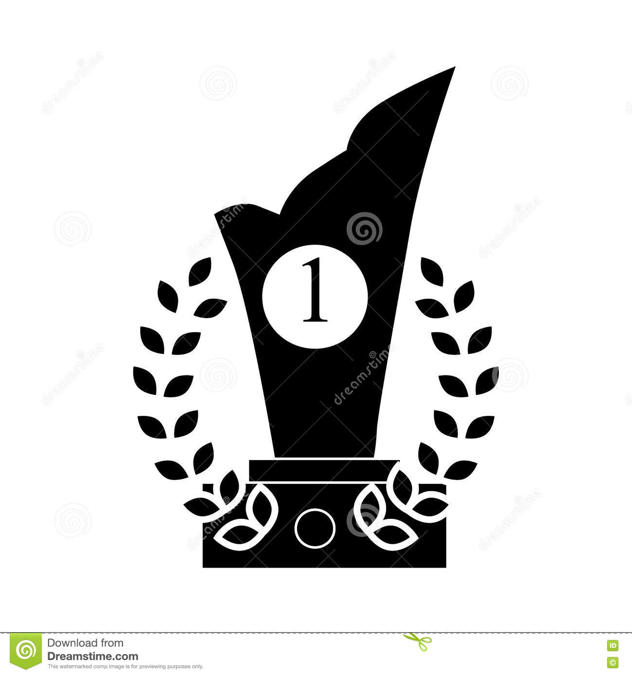 Download Trophy And Prize Symbol Icon Black Simple Style Stock Vector