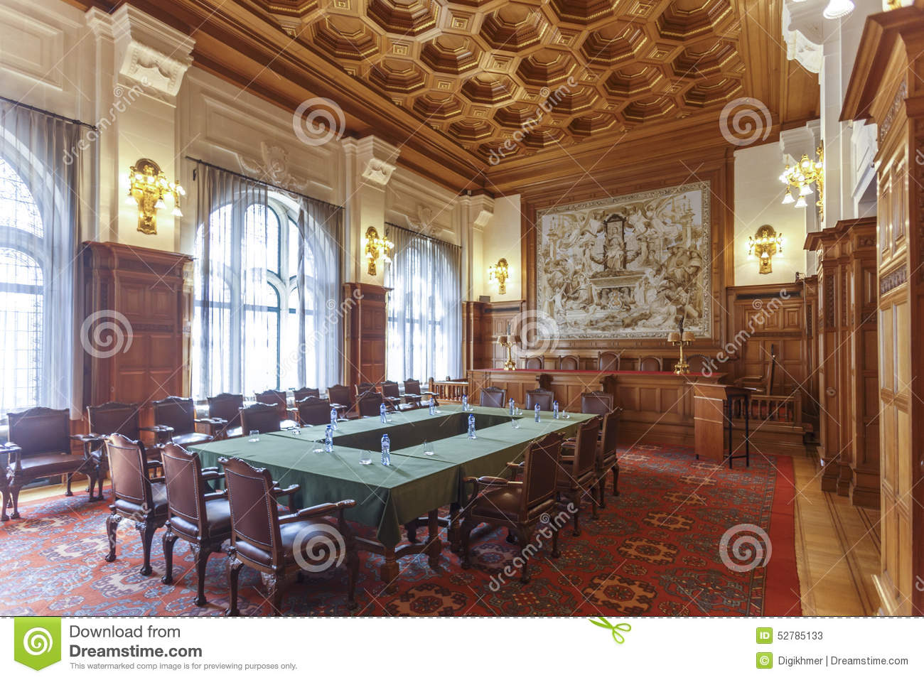 Permanent Court Of Arbitration Court Room Editorial Stock