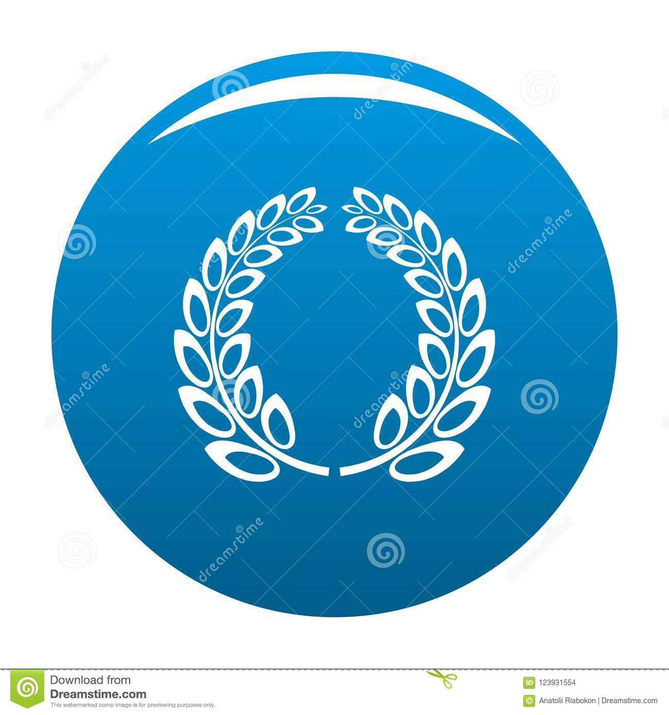 Download Trophy Wreath Icon Blue Stock Illustration Of