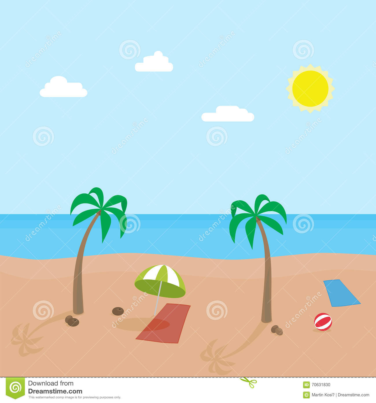 cartoon beach scene stock illustration illustration of funny 41194657 rh dreamstime com cartoon beach scene clip art cartoon beach scene clip art