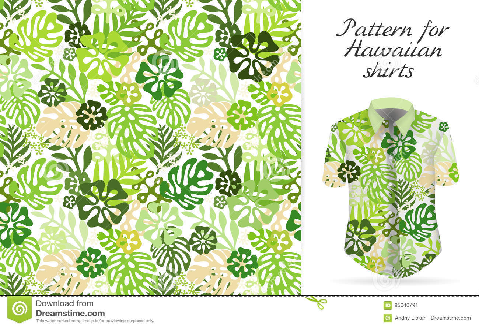Tropical aloha pattern. Vector
