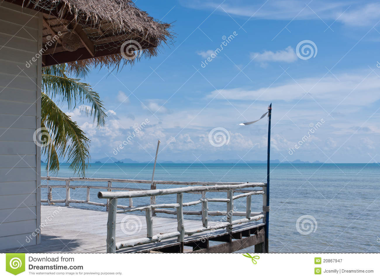 Balcony with the view of paradise stock photography for Balcony with view
