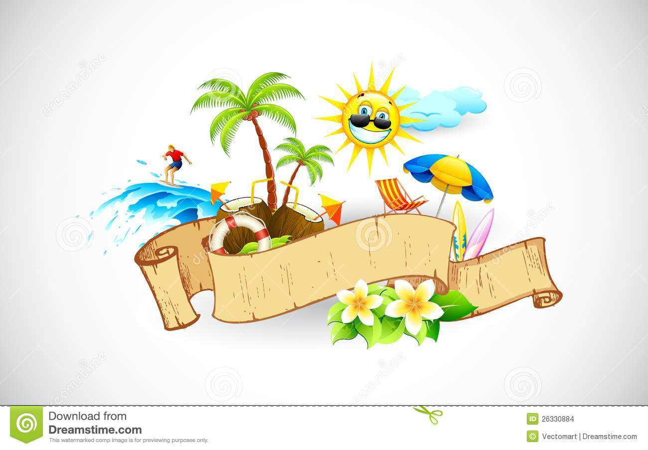 Tropical Banner Stock Images Image 26330884