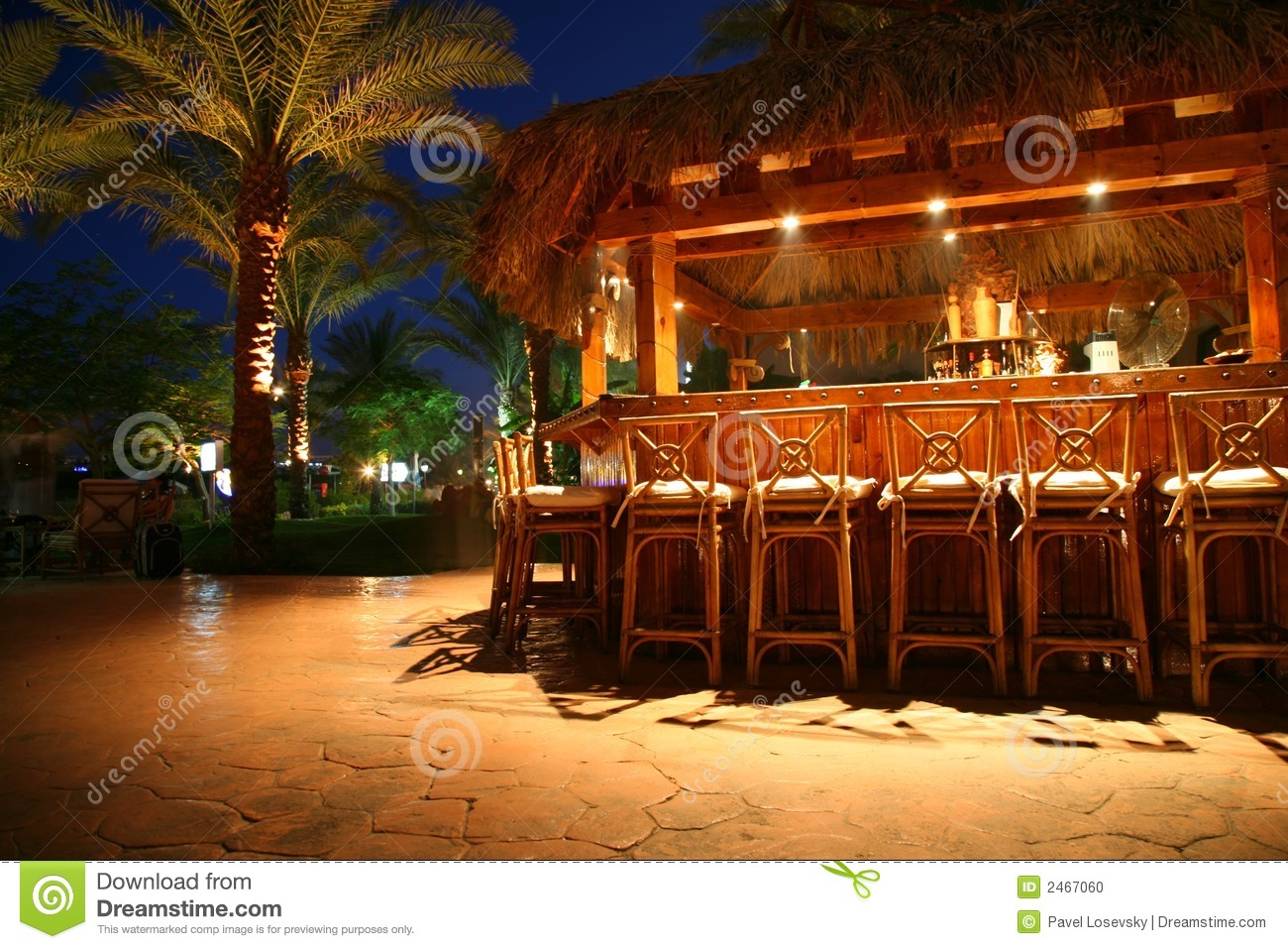 Tropical bar stock photo image of romantic relax exotic for Construire un bar exterieur en bois