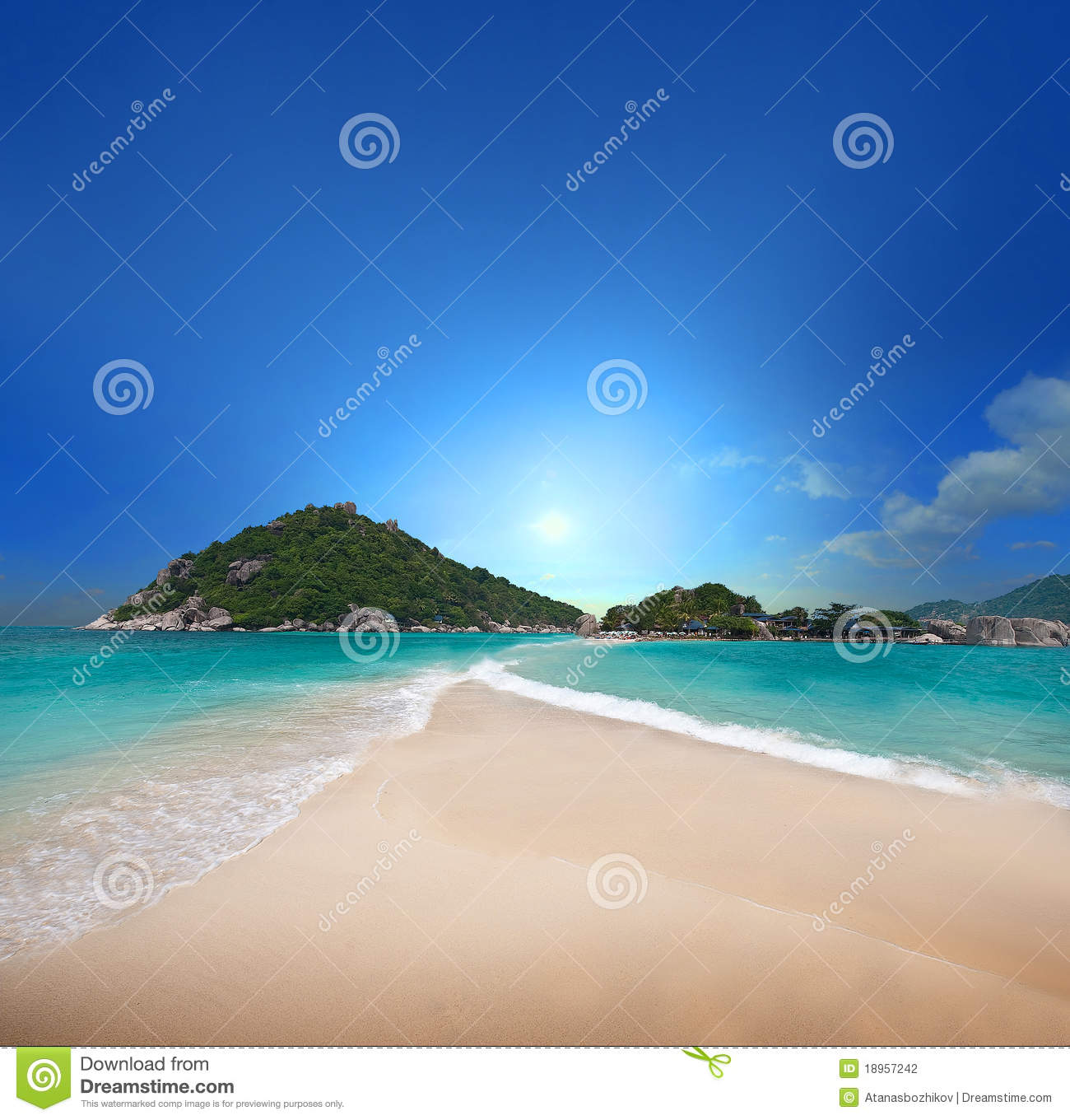 Exotic Beach: Tropical Beach Stock Photo. Image Of Nature, Alone, Sand