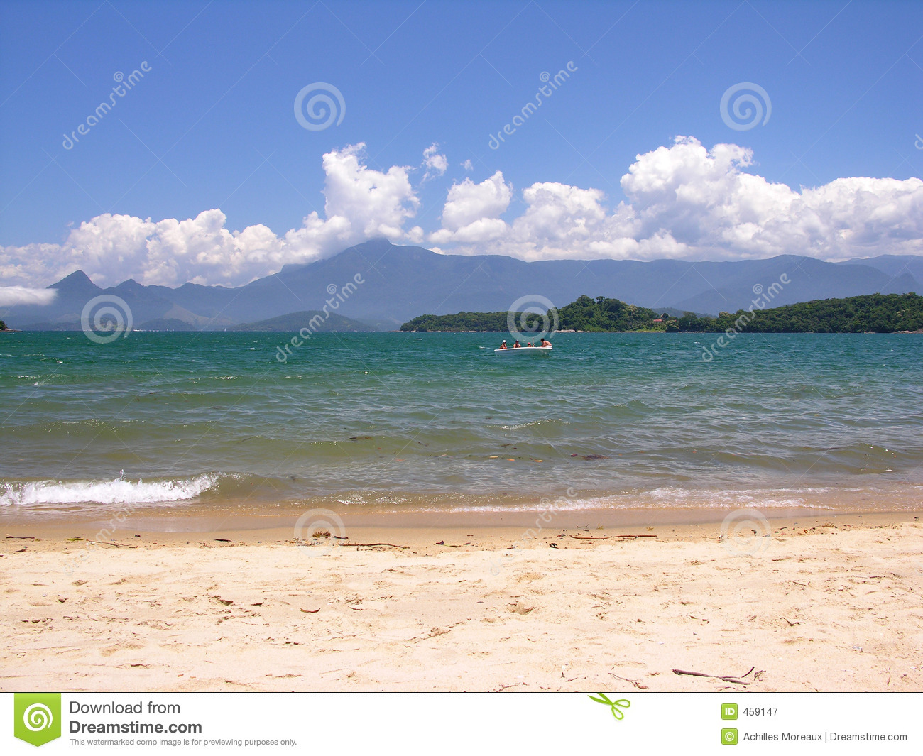 Download Tropical beach stock image. Image of fishing, shore, blue - 459147