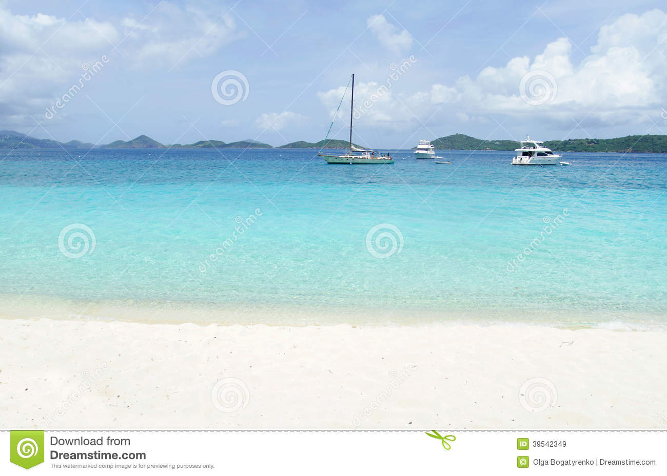 Tropical Beach With Boats Stock Photo - Image: 39542349
