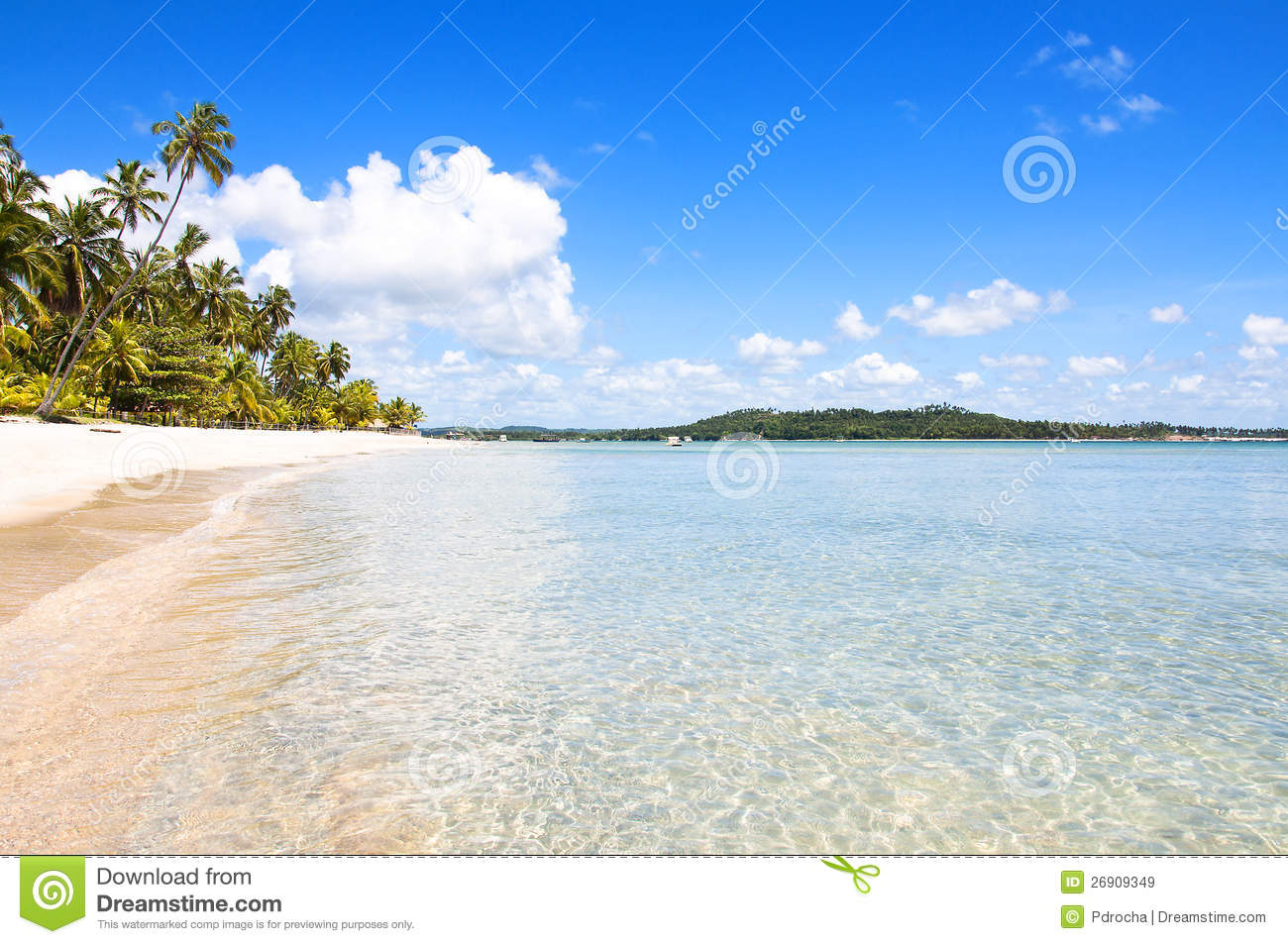 Tropical Beach In Brazil Royalty Free Stock Images - Image ...