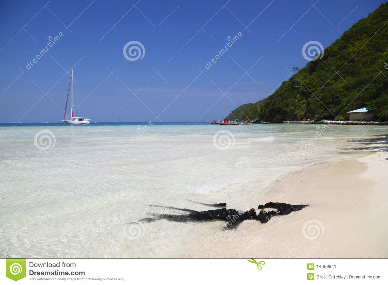 Private Beach Haiti Stock Image - Image: 14459841