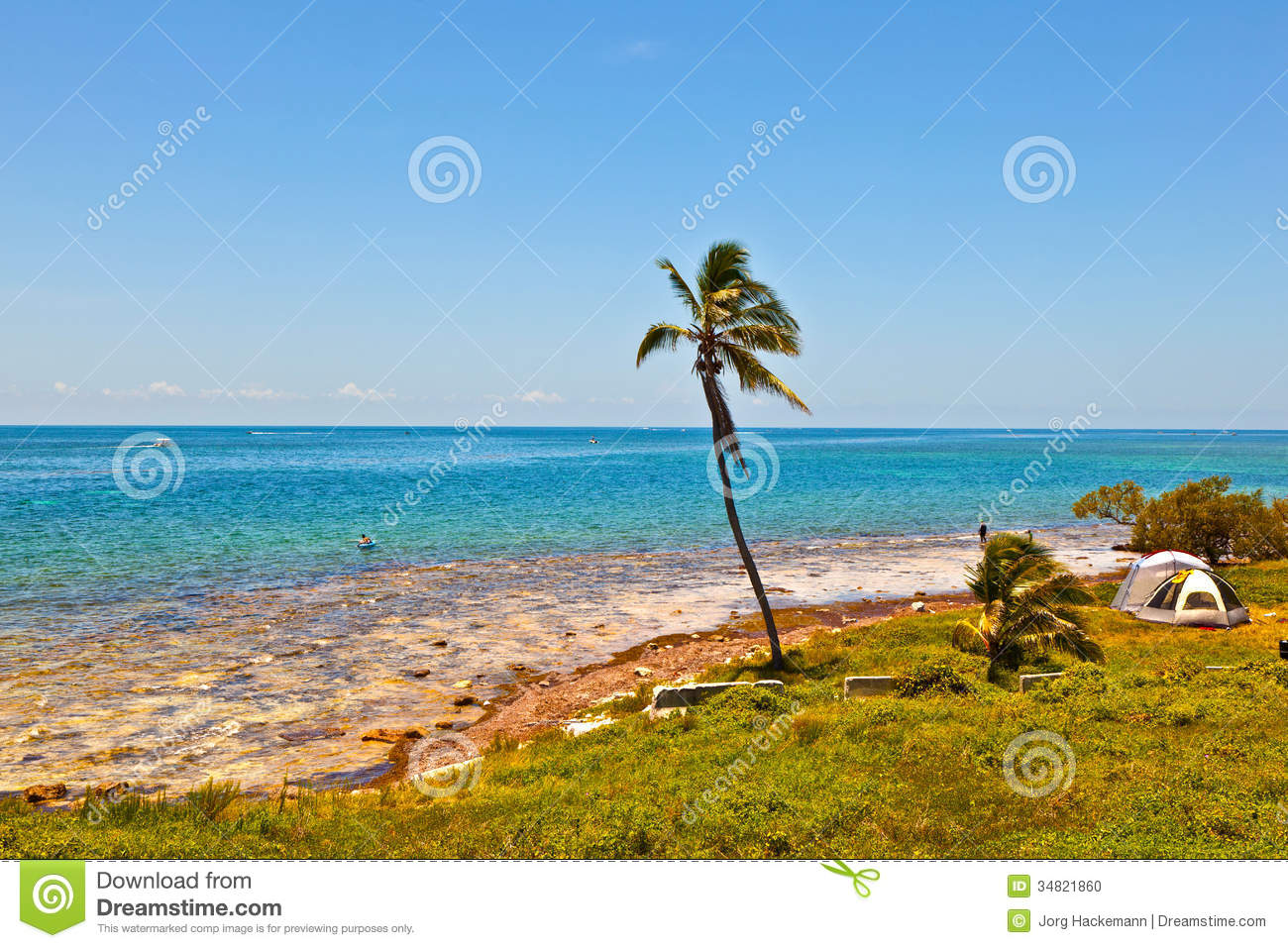 Florida Keys Map Of Beaches.Tropical Beach With Clear Water In The Florida Keys Stock Photo