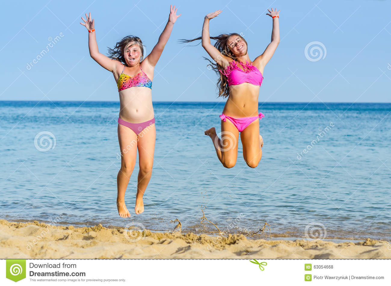 148ec0758a331 Tropical beach happiness stock photo. Image of playing - 63054668