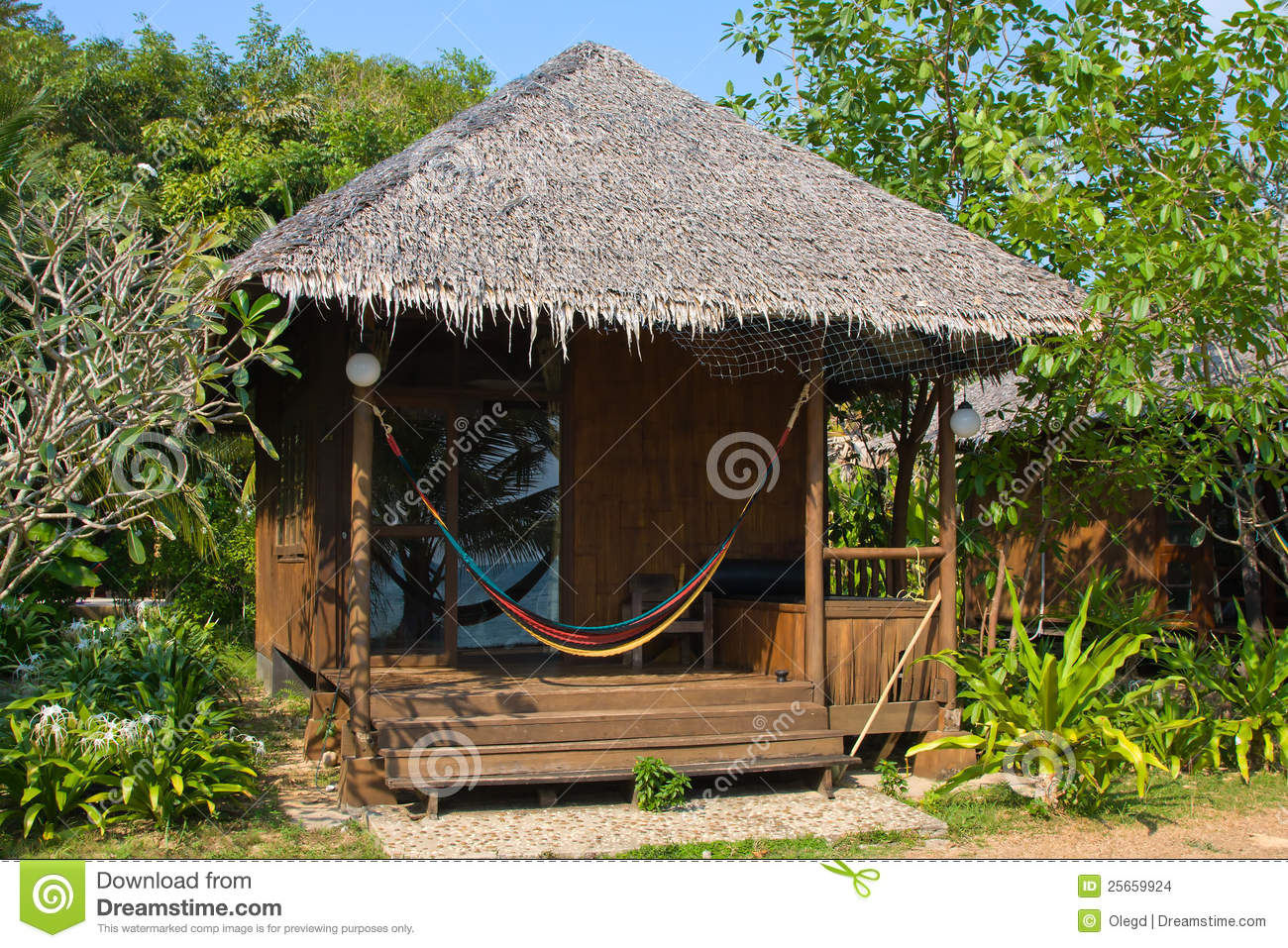 Tropical Beach House Stock Images Image 25659924