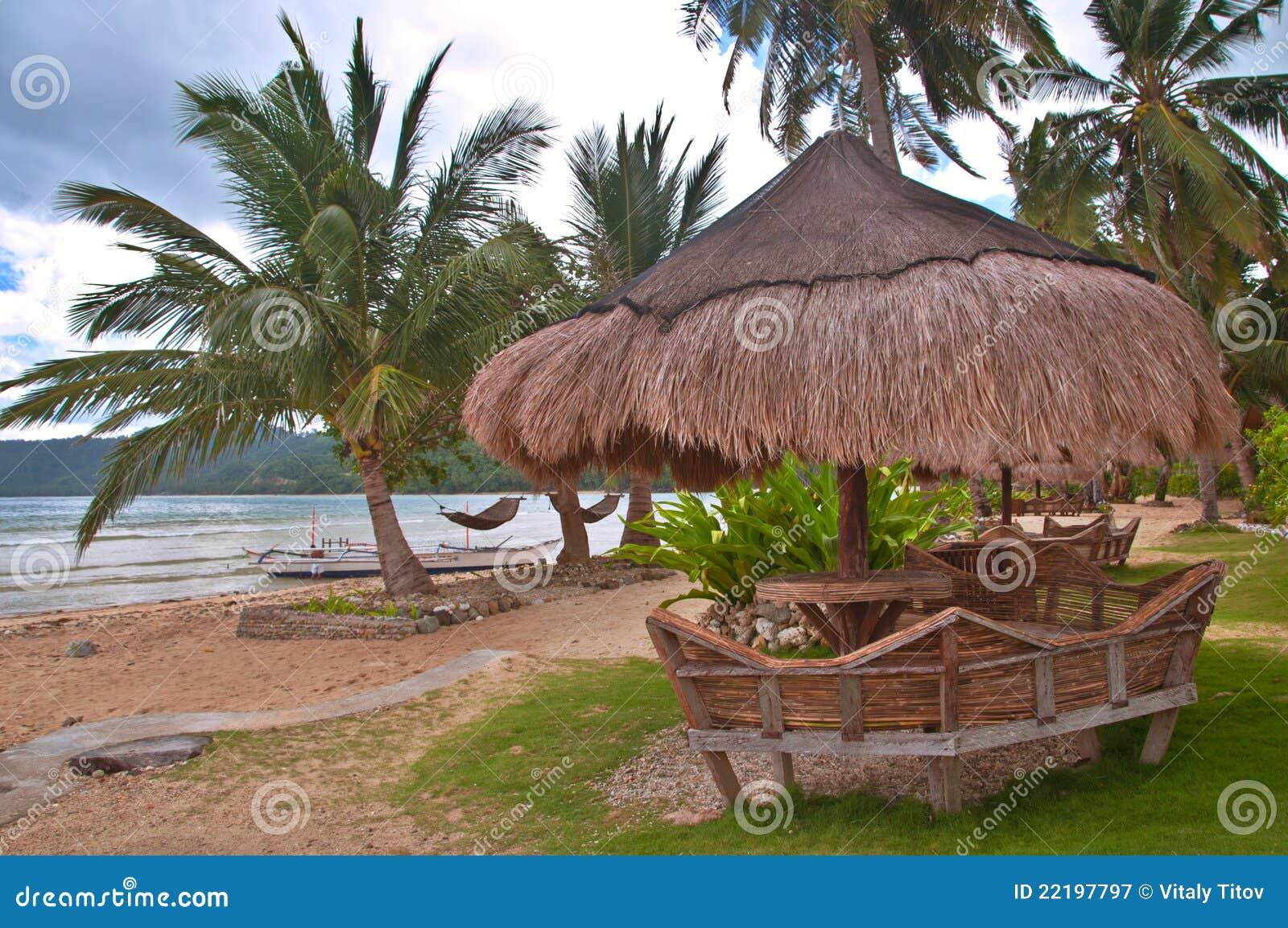 Tropical Island Beach Hut: Tropical Beach Hut Stock Image. Image Of Seascape, Island