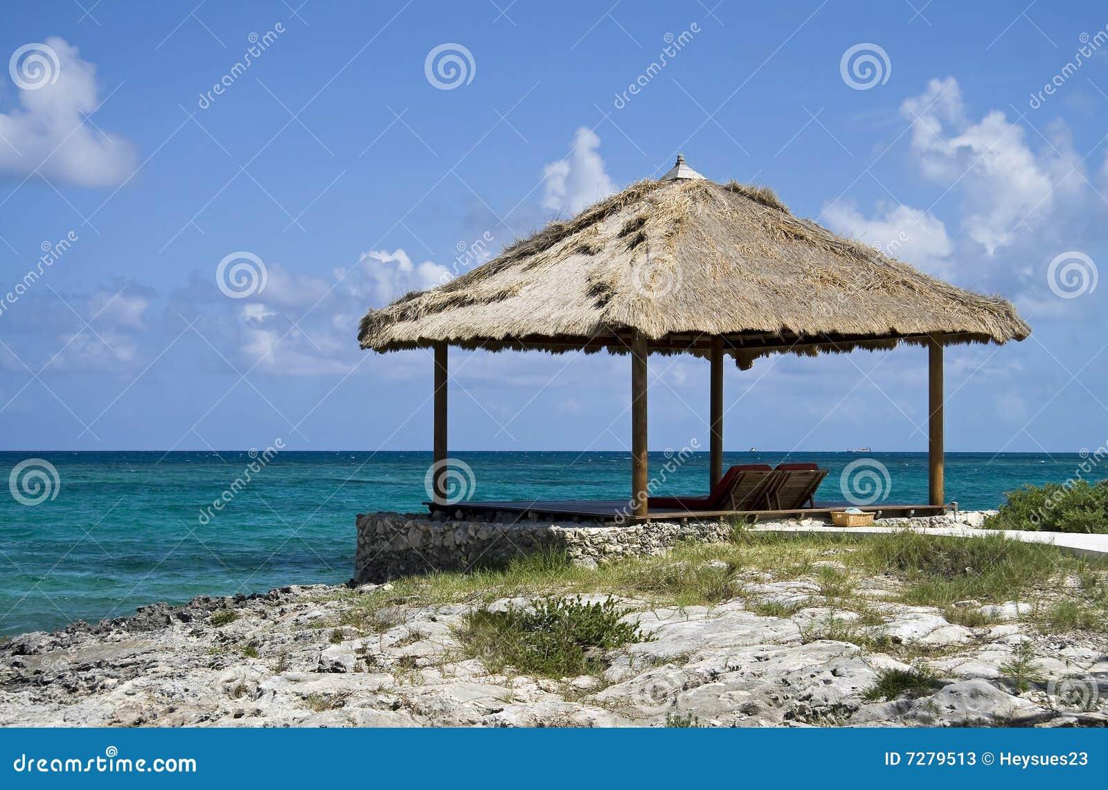 Tropical Beach Huts: Tropical Beach Hut Stock Photos
