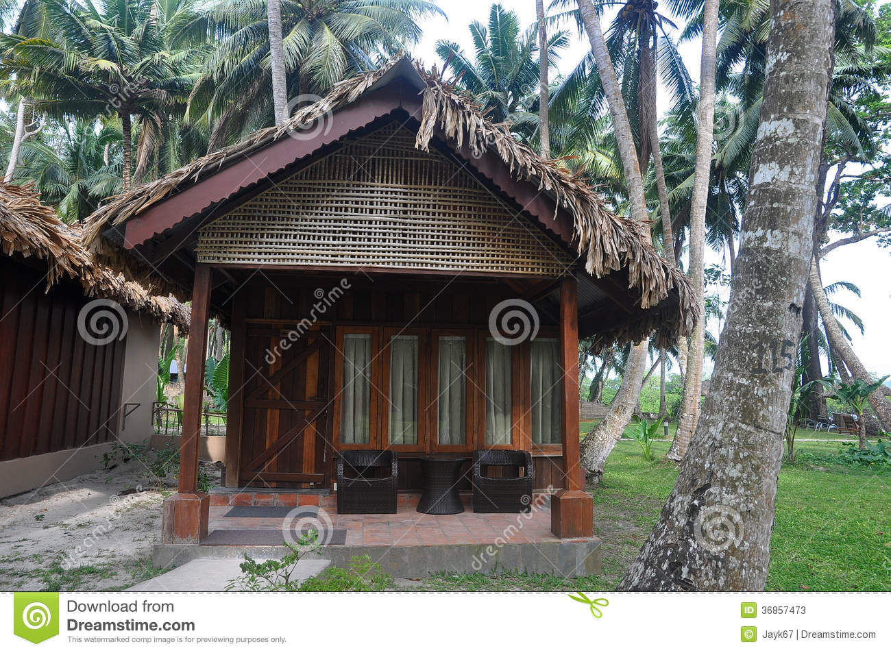 Tropical Beach Hut Stock Image Image Of Wood Rest
