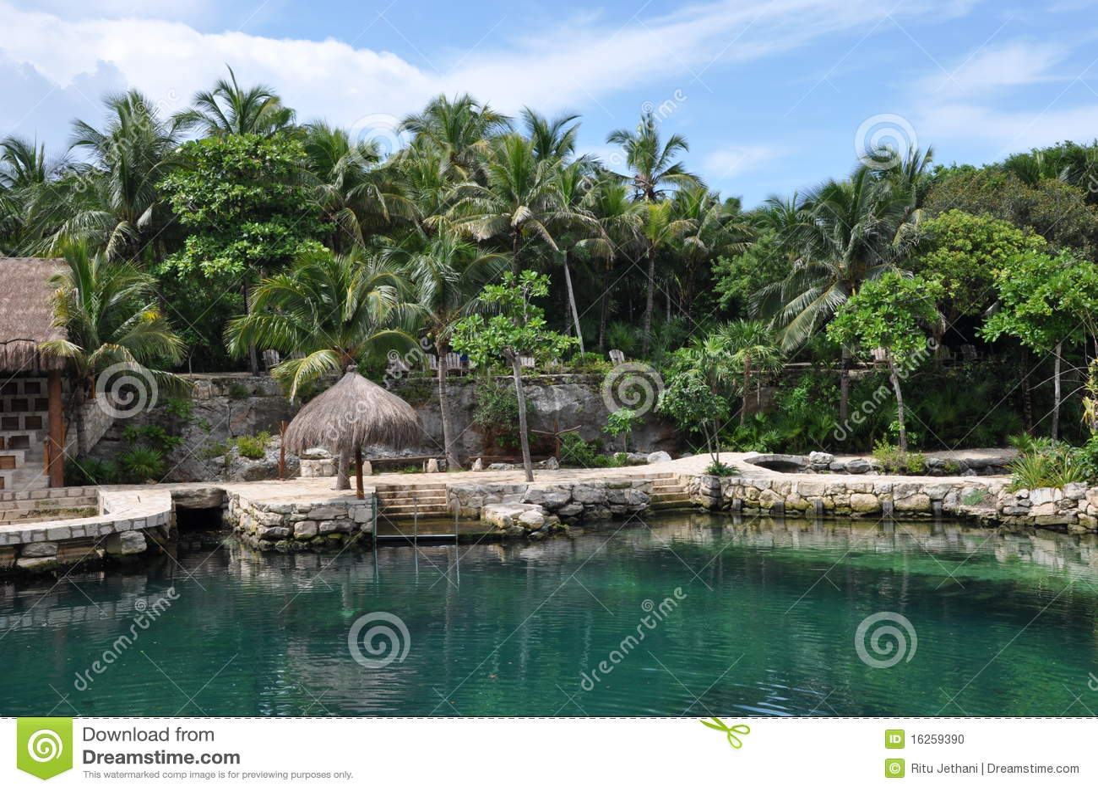 Tropical Beach Huts: Tropical Beach Huts Stock Photo. Image Of Palm, Shade