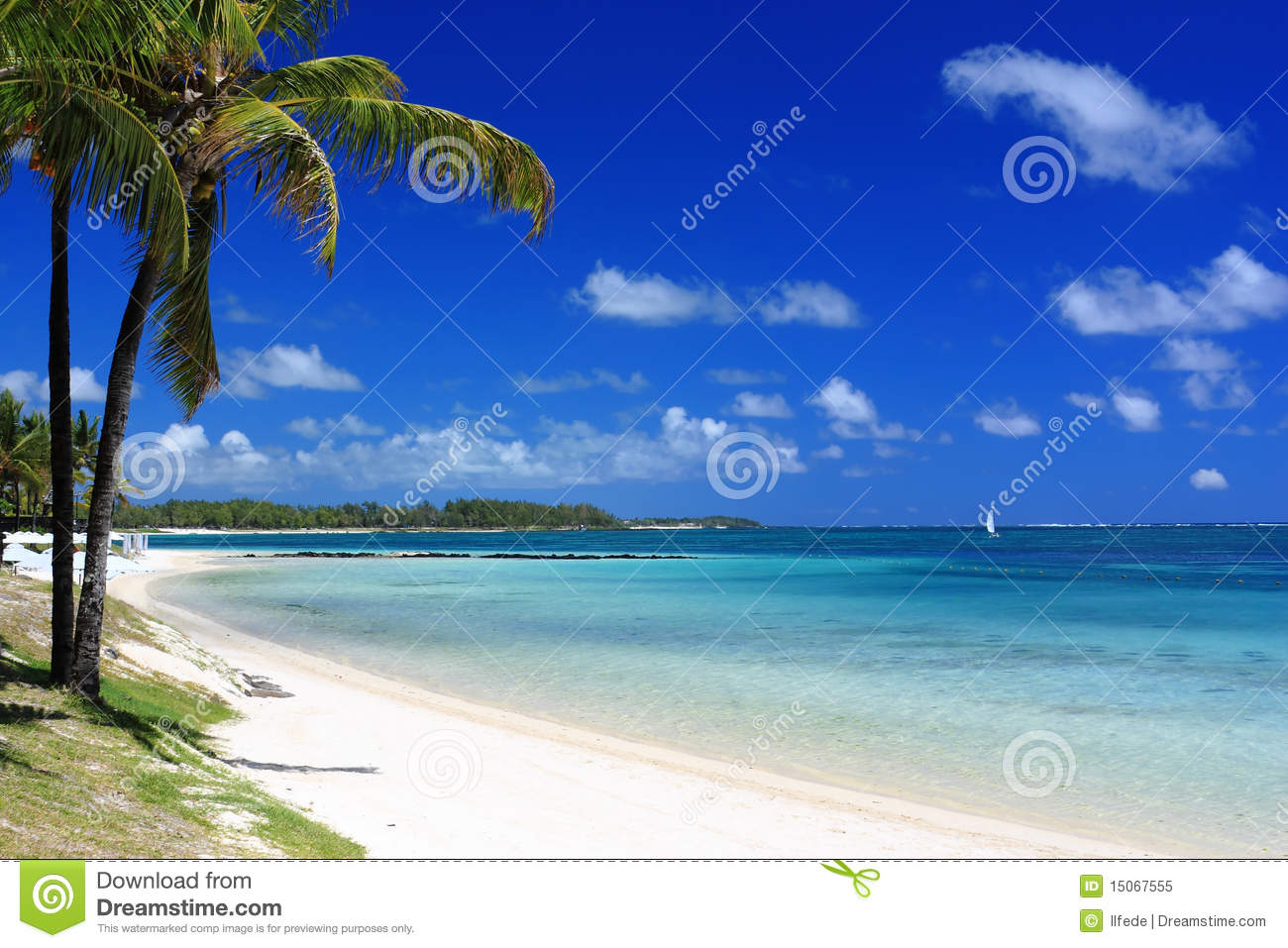 Tropical Island Beach Ambience Sound: Tropical Beach In Mauritius Island Royalty Free Stock