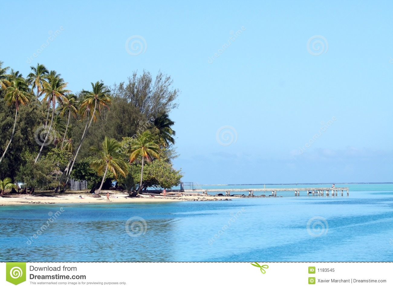 Tropical Beach And Pier Royalty Free Stock Photo - Image ...