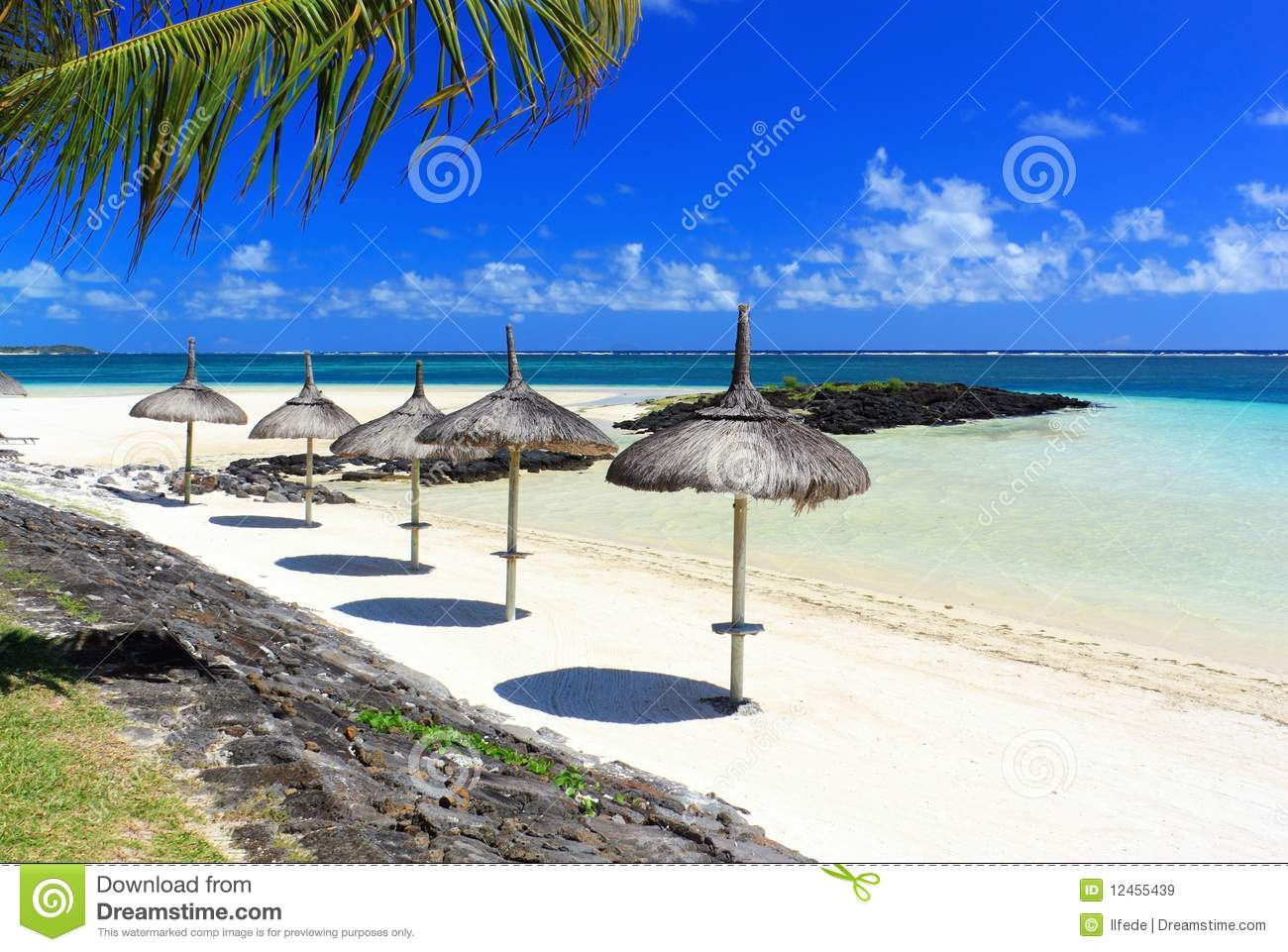 Tropical Island Beach Ambience Sound: Tropical Beach Resort In Mauritius Island Royalty Free