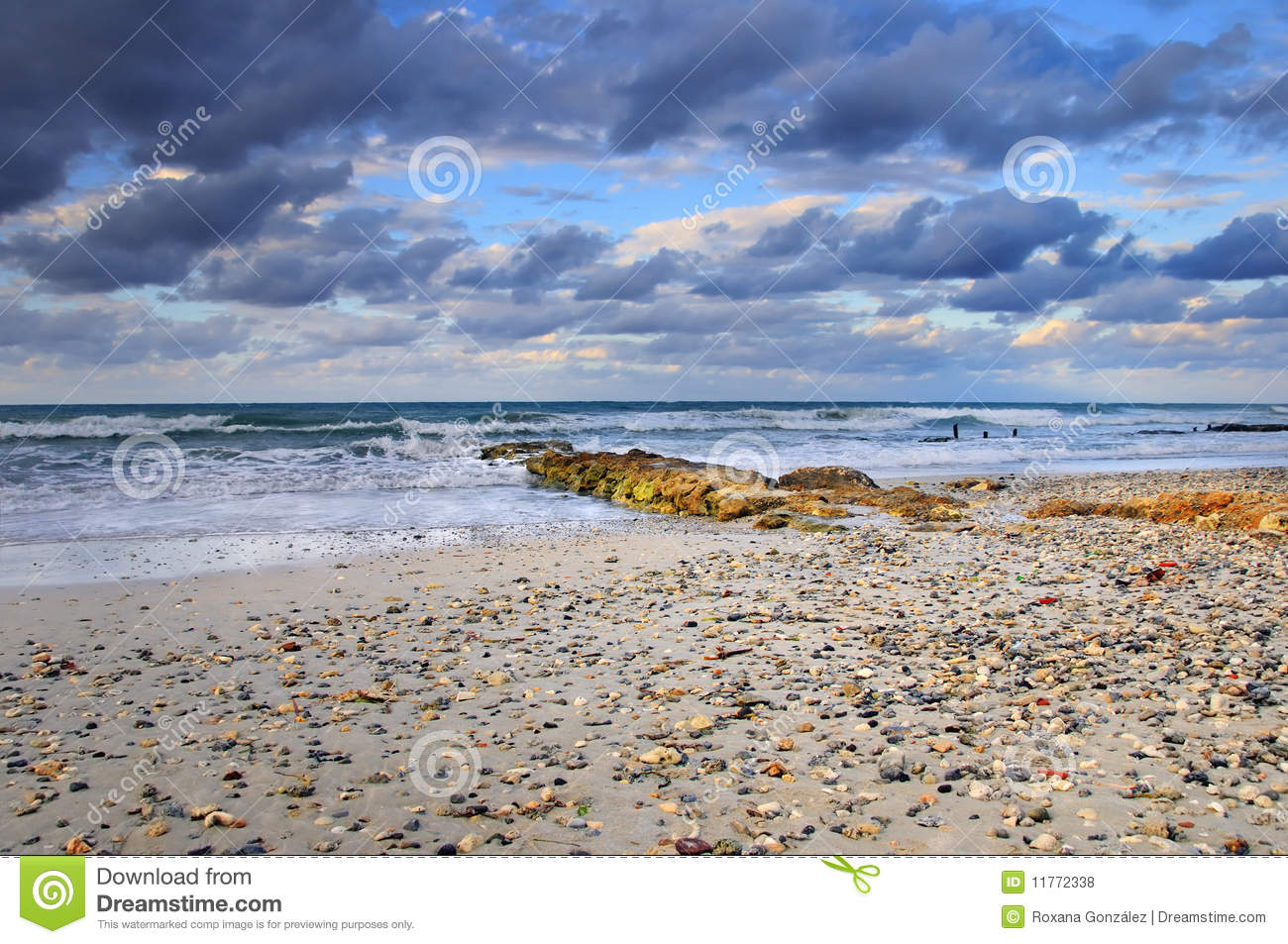 Tropical Beach Scene With Colorful Clouds Royalty Free ... - photo#47