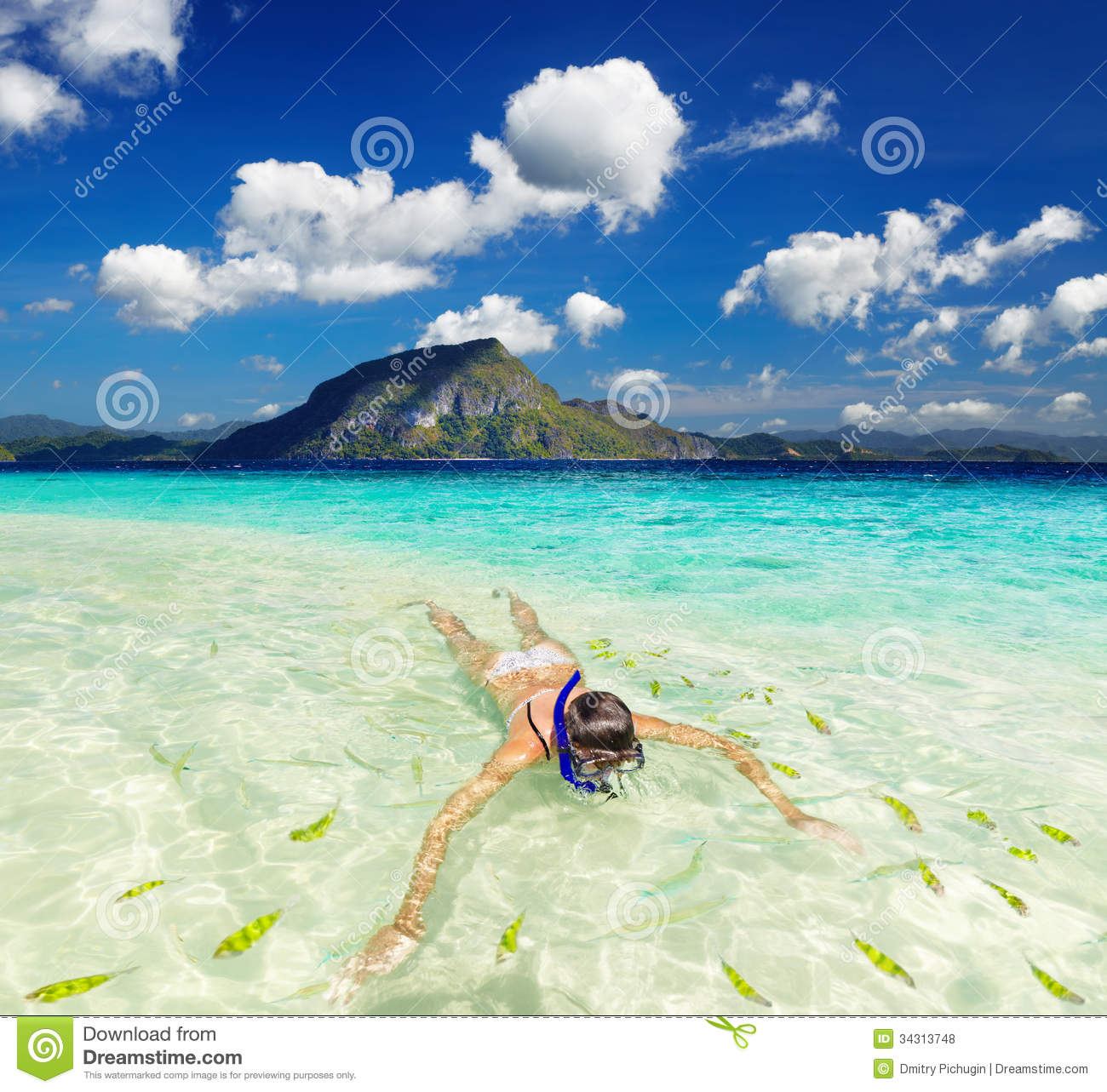 Tropical Beaches: Tropical Beach, Snorkeling Stock Photo. Image Of Paradise