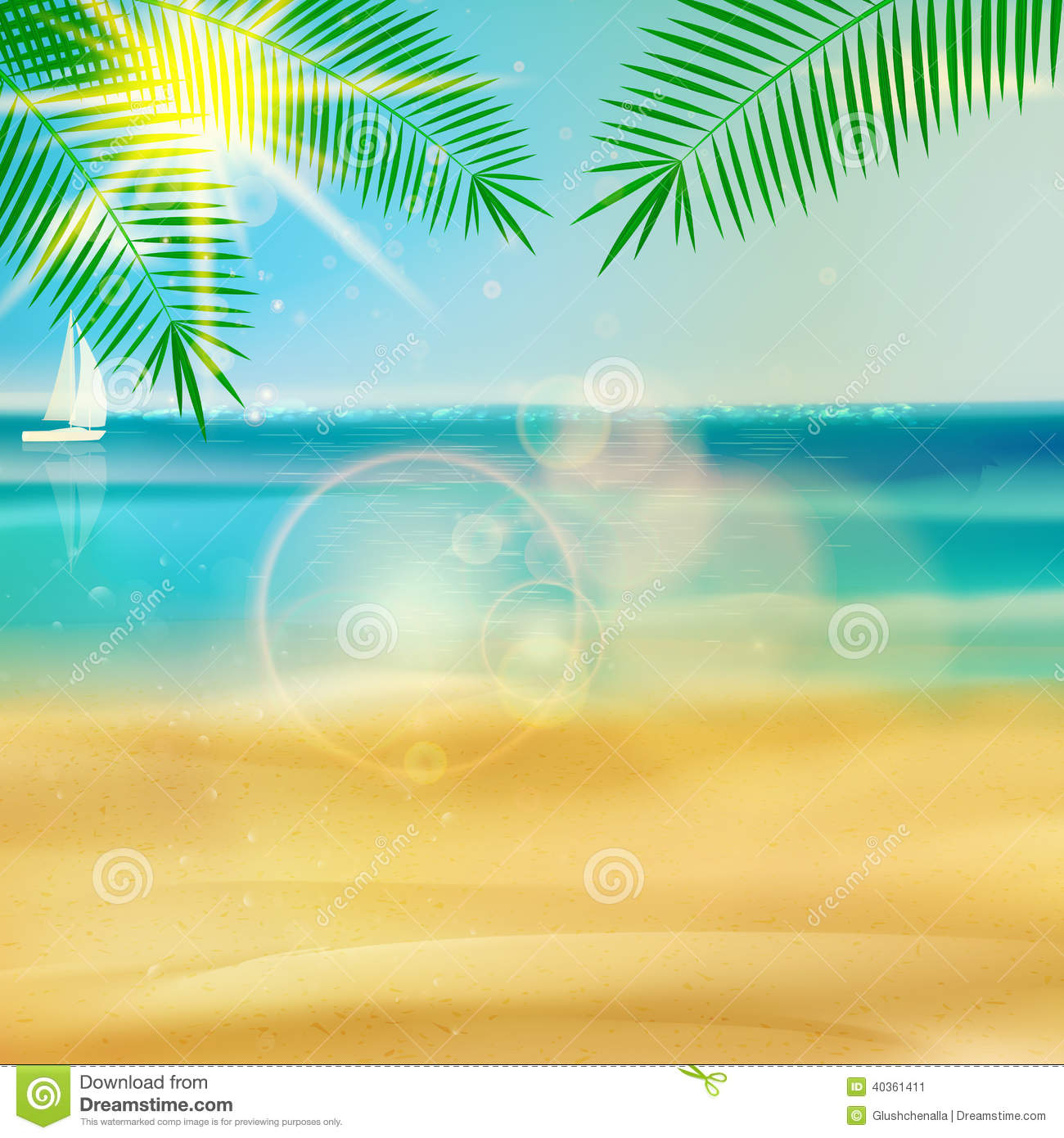 tropical beach template stock image image of peaceful 40361411