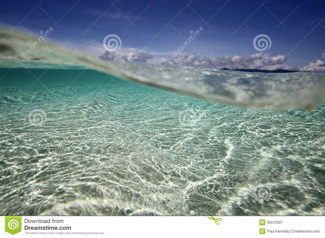 Tropical beach underwater view