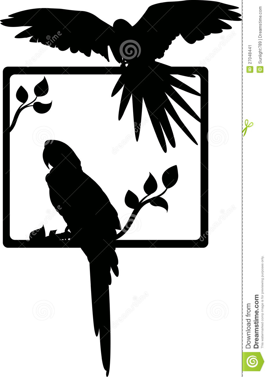 Tropical Bird Silhouette Stock Image Image 27048441