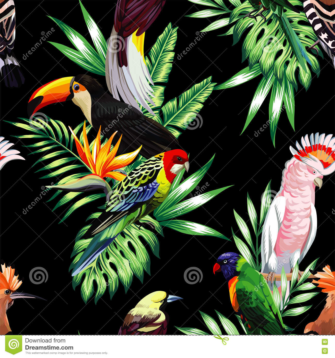 wallpaper tropical birds and foliage - photo #4