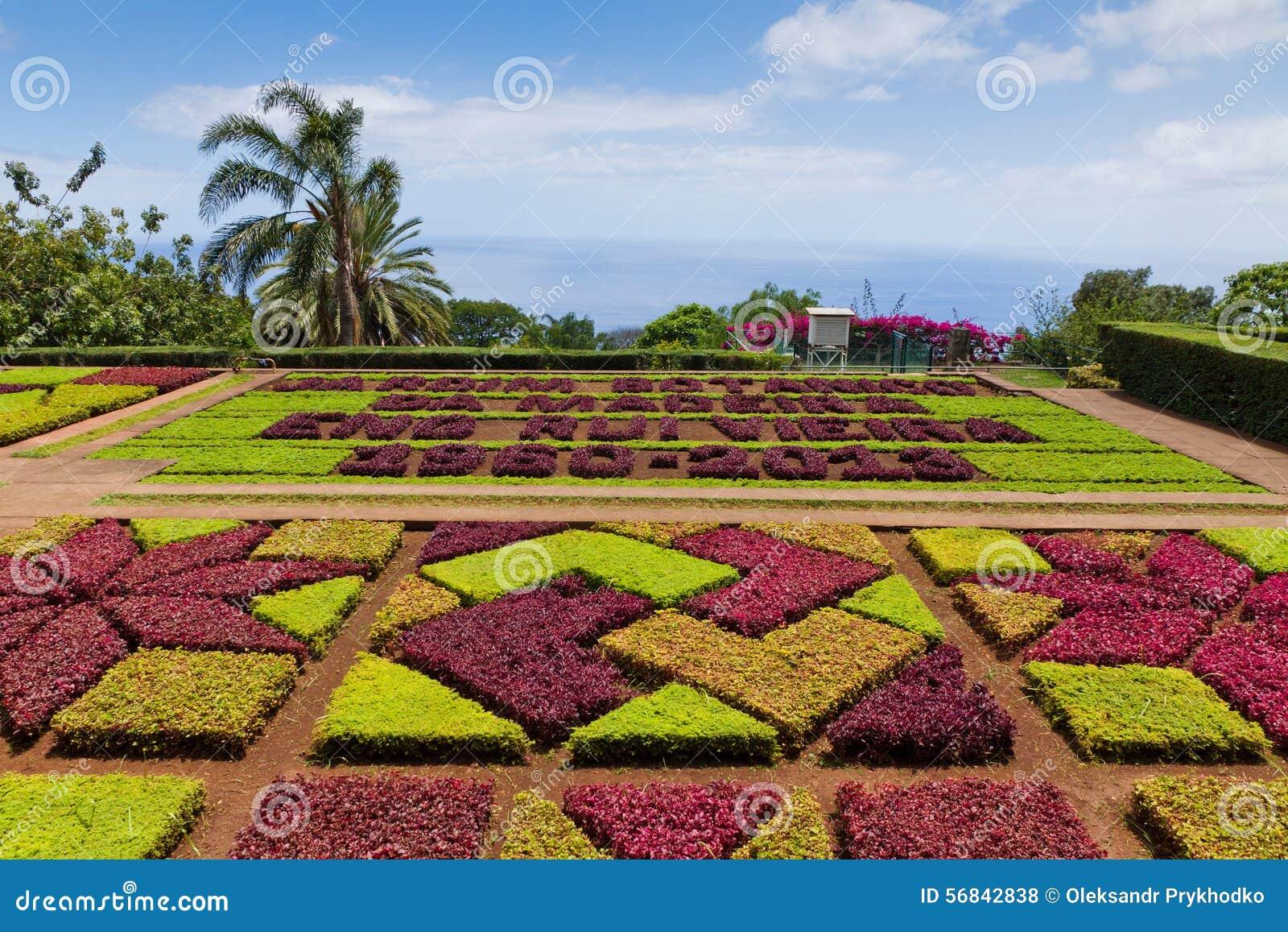Tropical Botanical Garden In Funchal, Madeira Island, Portugal Stock ...