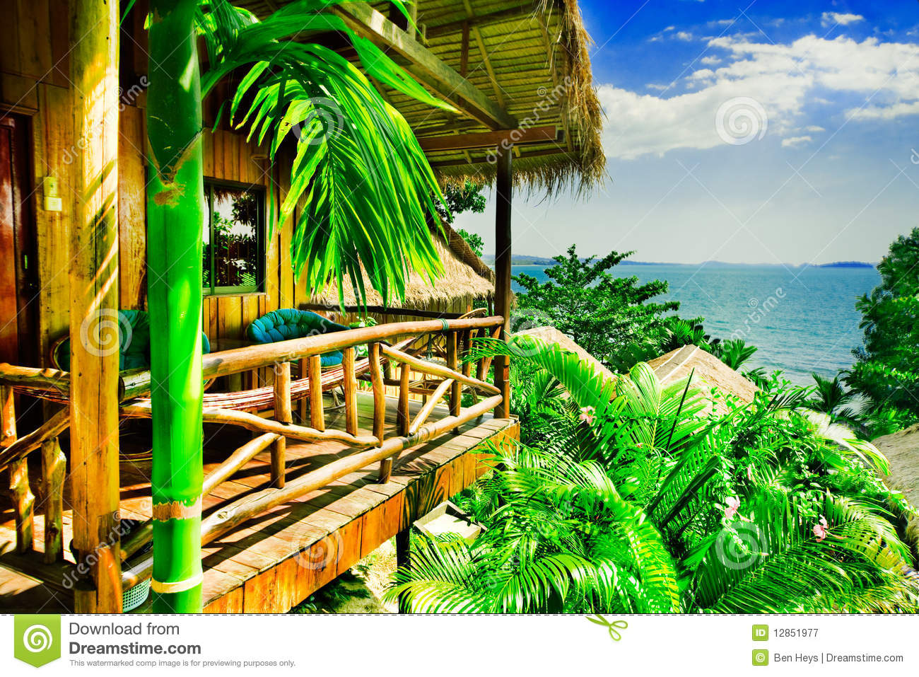 Tropical Bungalow Royalty Free Stock Photography Image