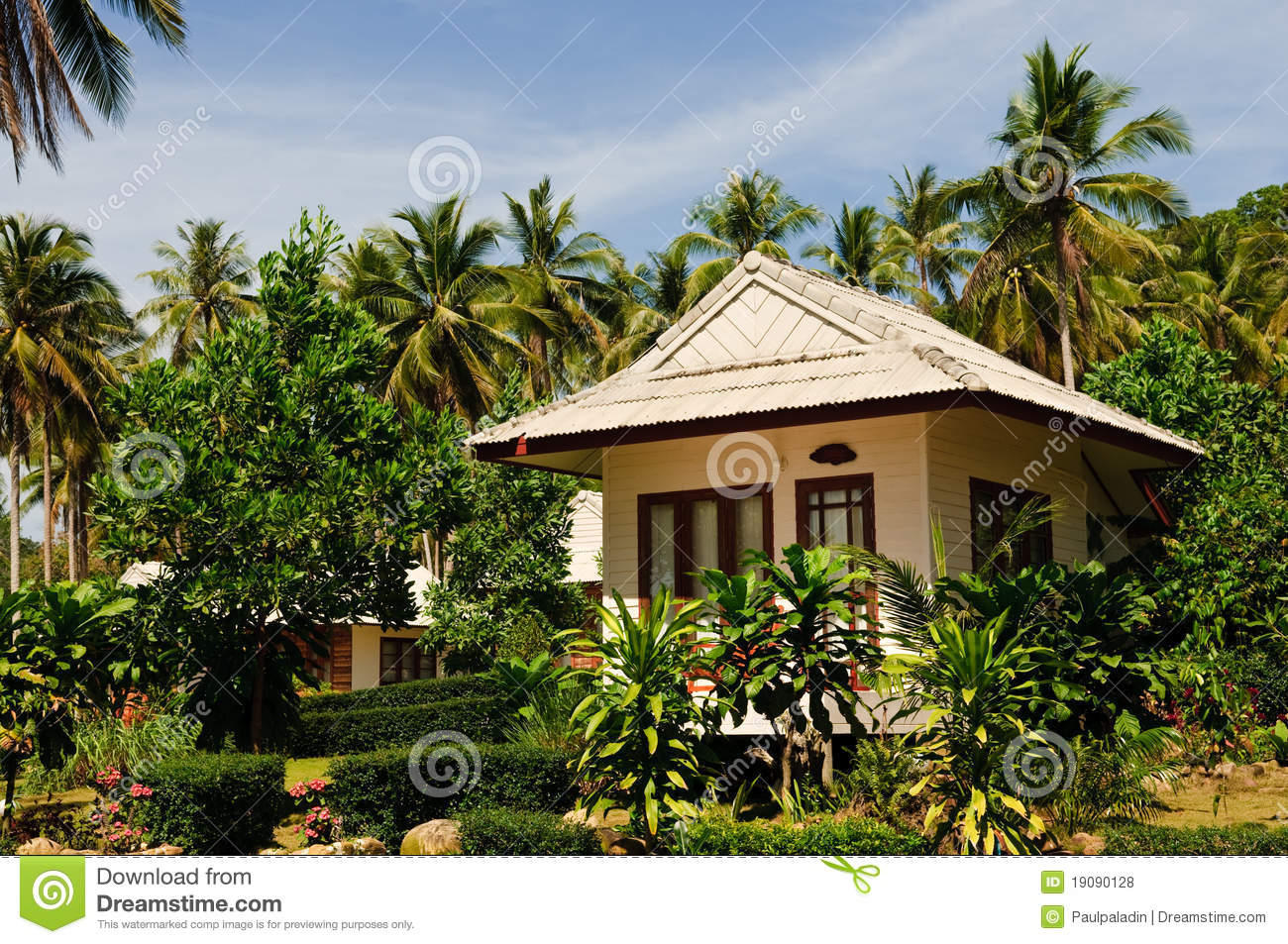Tropical Bungalow Stock Photo. Image Of Resort, House