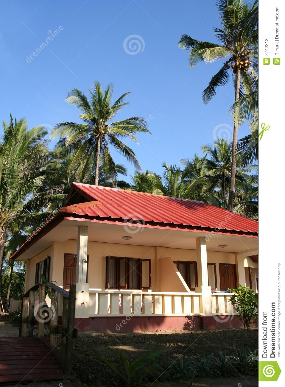 Tropical Bungalow Stock Photography Image 2742212
