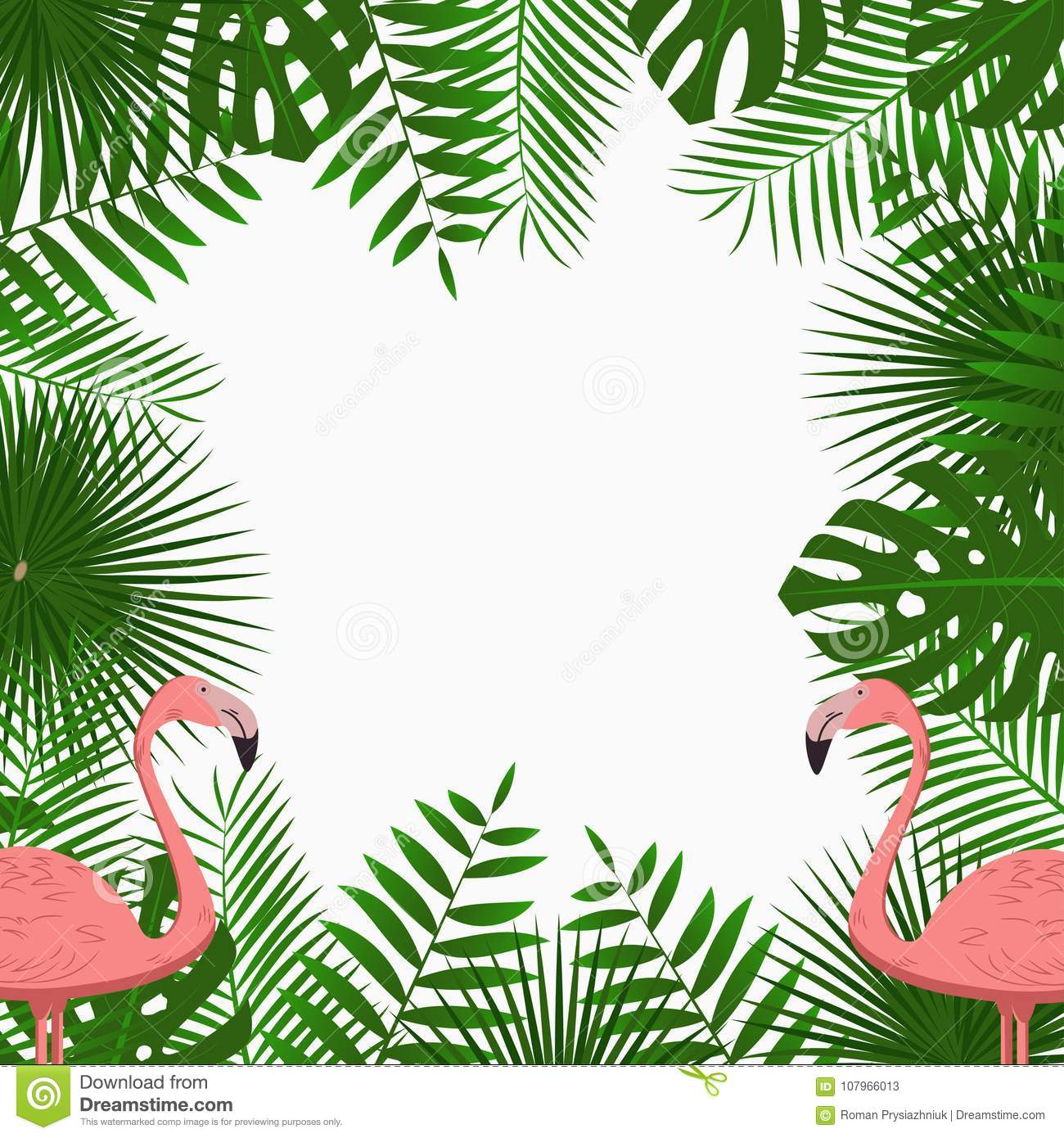 Tropical card poster or banner template with jungle palm tree royalty free stock photo toneelgroepblik Images