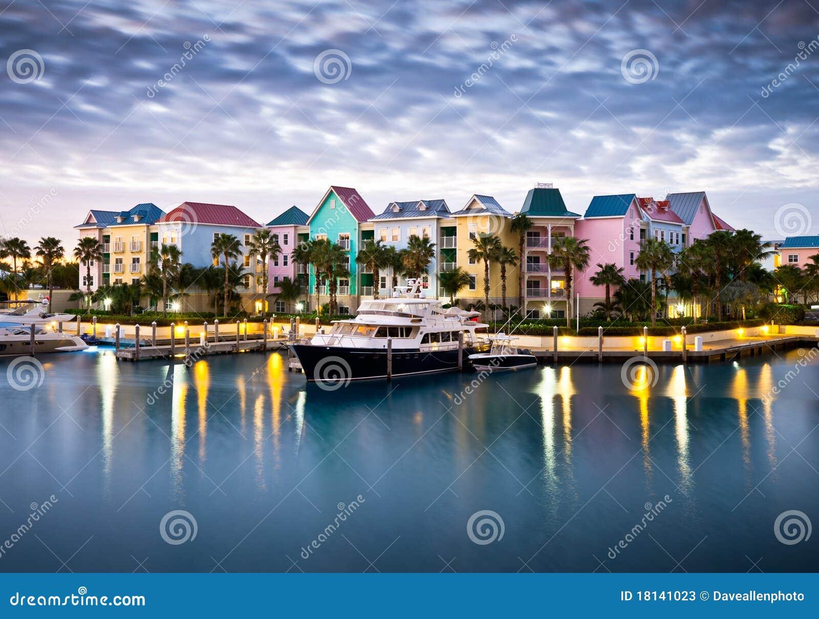 Tropical Caribbean Harbor Marina and Yacht