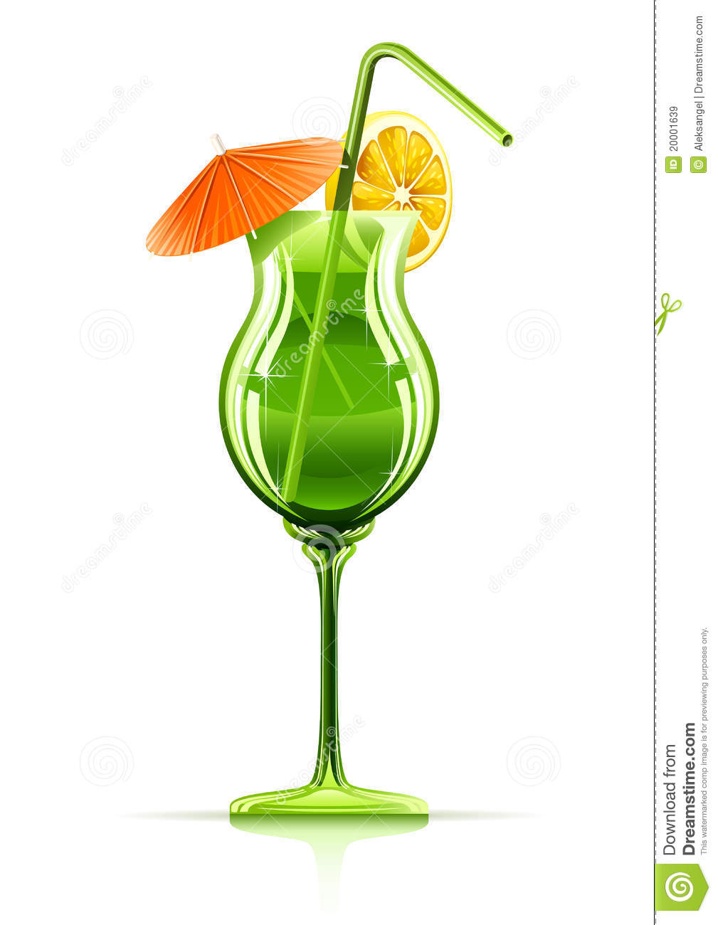 Tropical Cocktail In Glass Royalty Free Stock Images - Image: 20001639