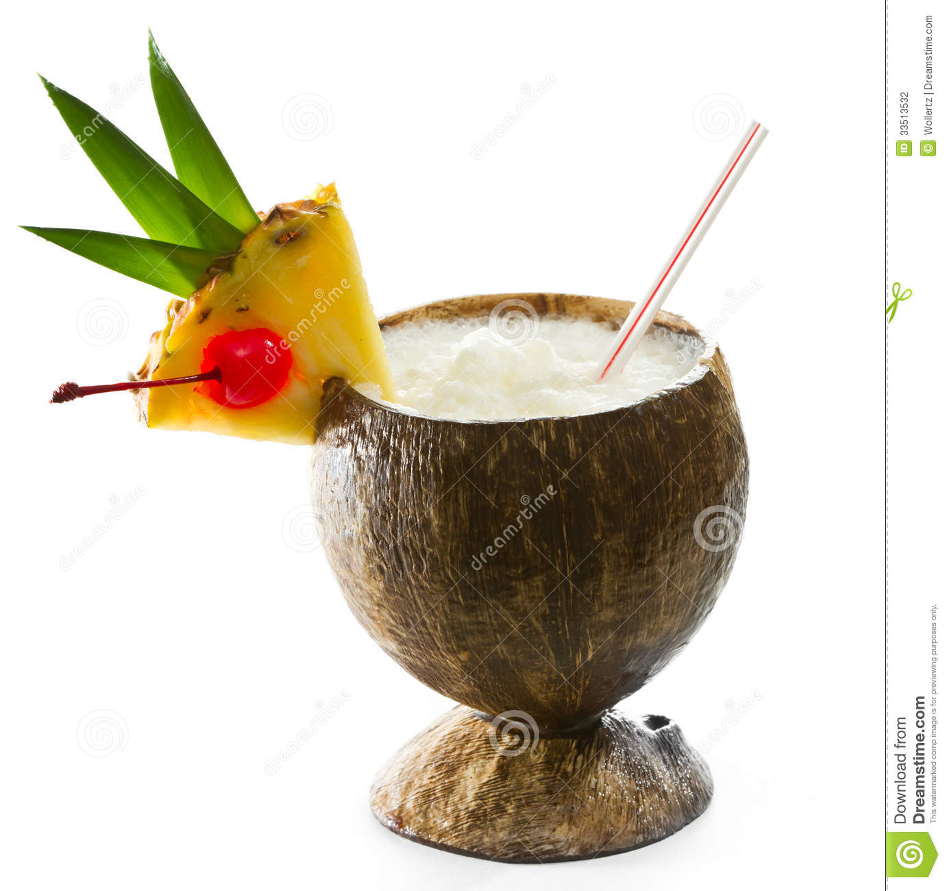 Tropical Coconut Drink Stock Photography - Image: 33513532