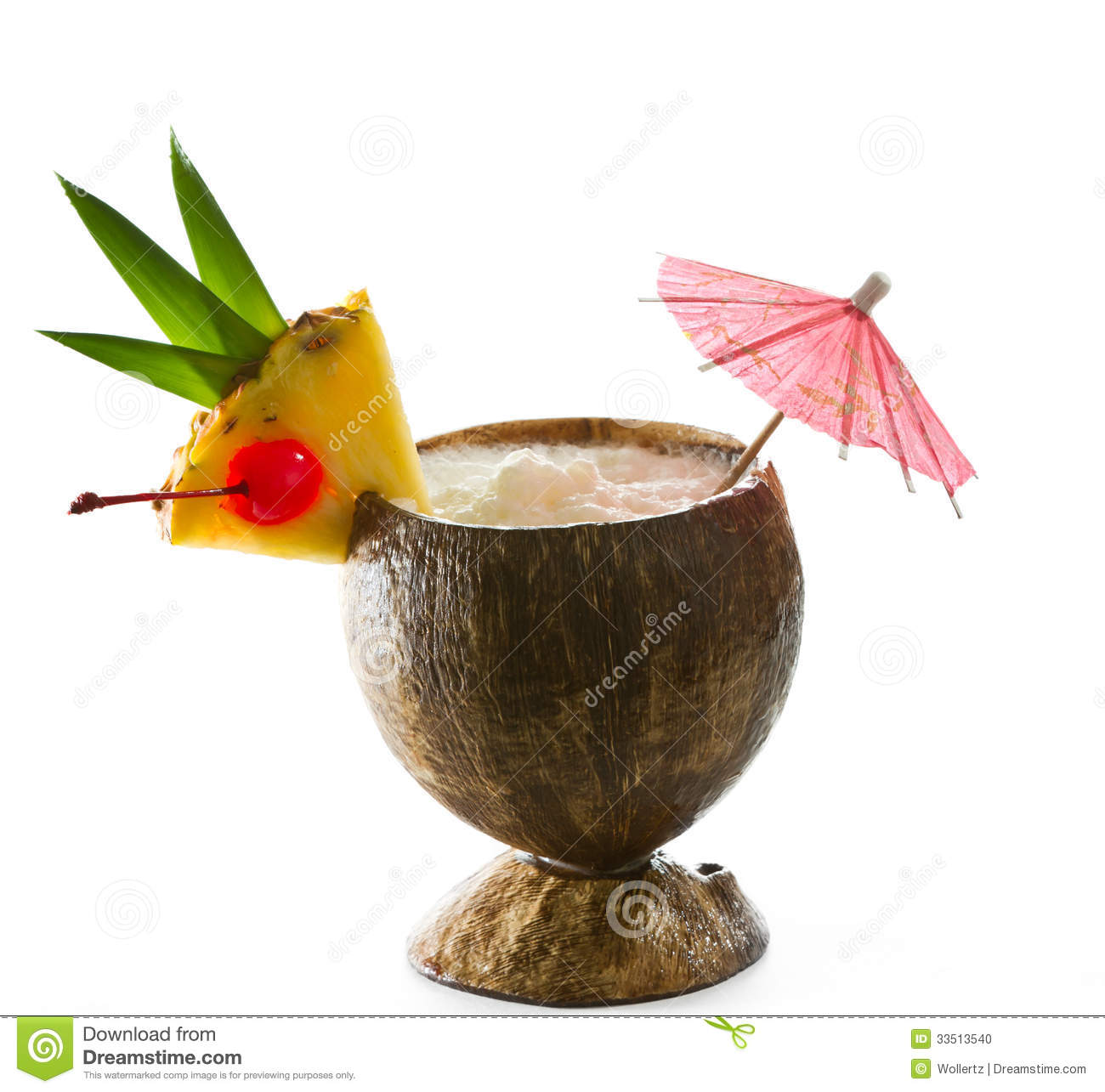 Tropical Coconut Drink Stock Photo
