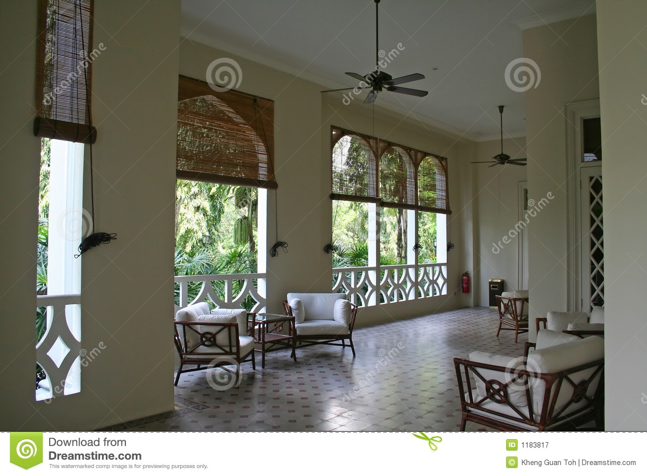Tropical Colonial Architectur Stock Image Image Of Airy