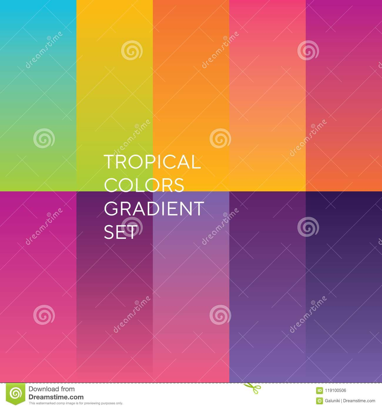 Exotic Sunset Colors Palette Stock Vector Illustration Of