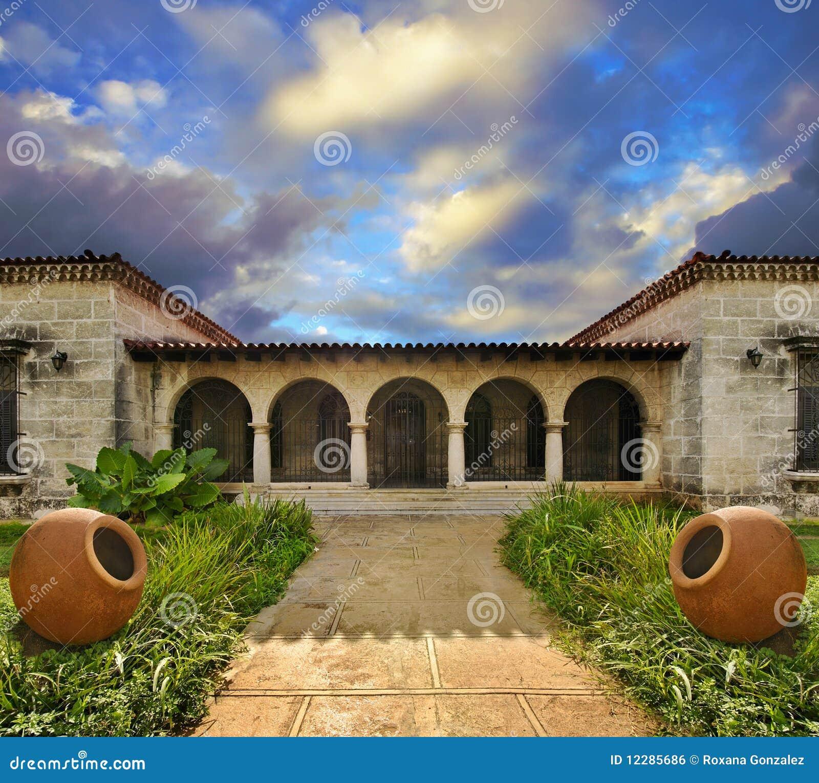 Tropical Cuban House Royalty Free Stock Image Image