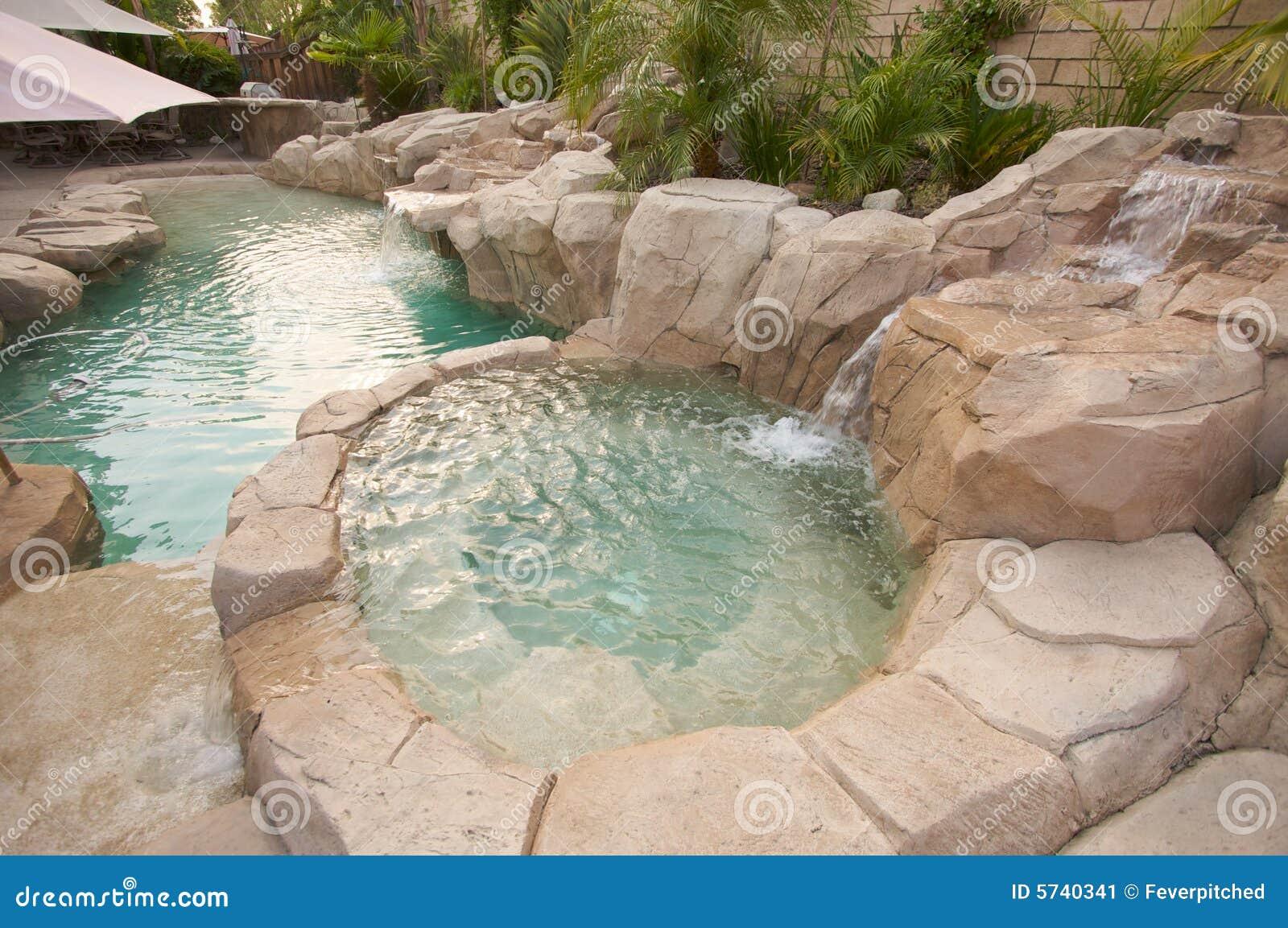 Tropical Custom Pool Jacuzzi Stock Image Image 5740341