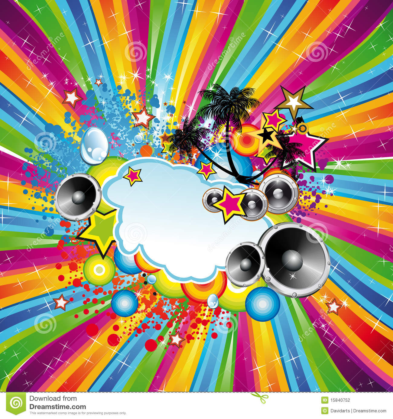 Tropical Disco Dance Background Stock Photography Image
