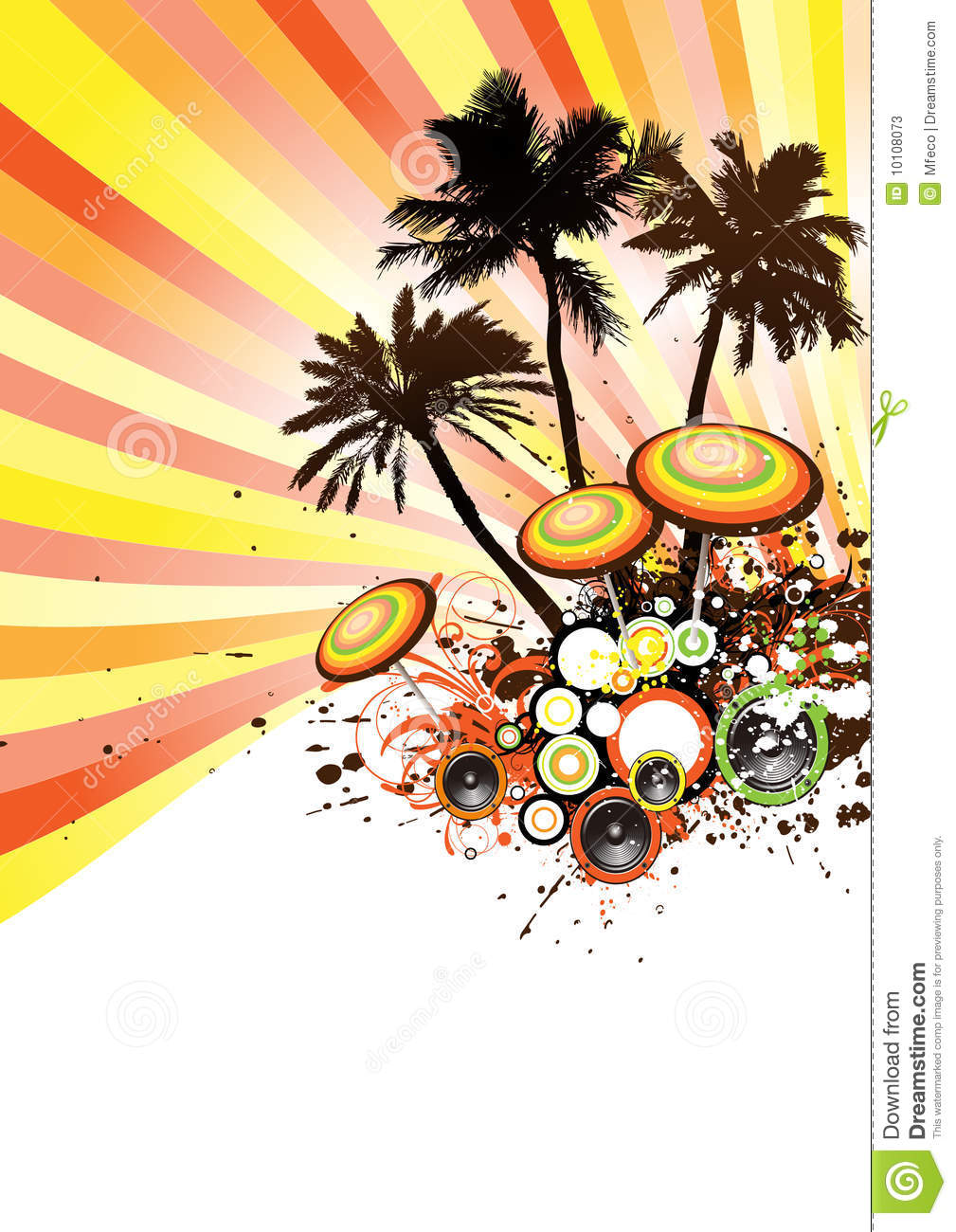 Tropical Disco Party Vector Stock Vector - Illustration of ...