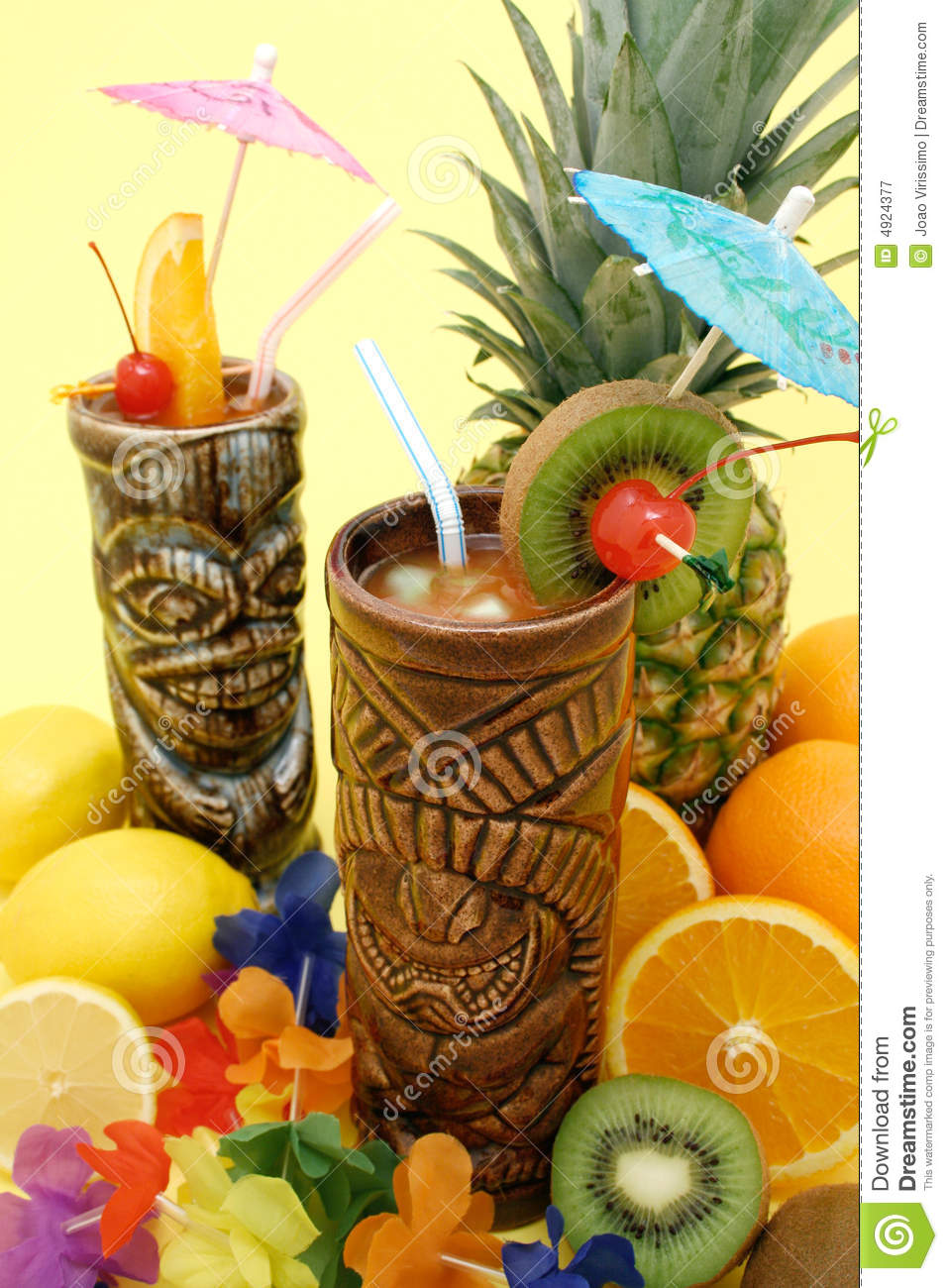 Tropical Drinks and Fruits