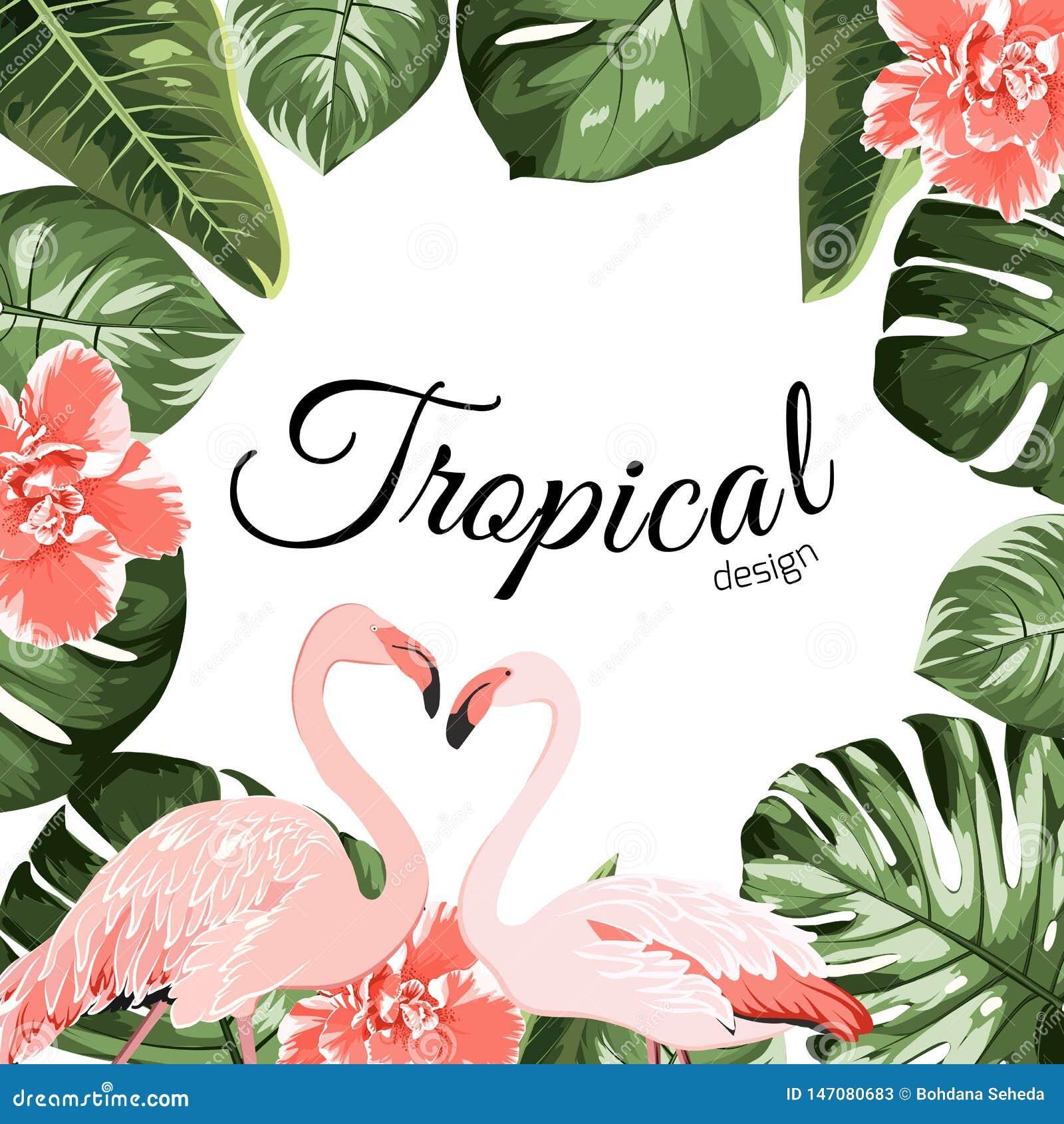 Tropical event invitation card template