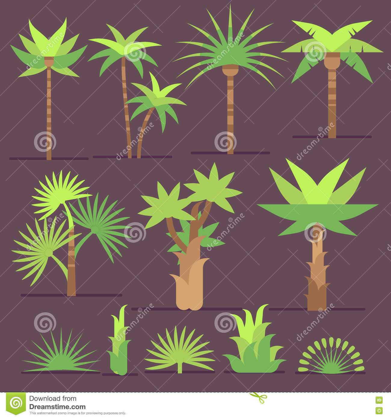 green palm leaves summer - photo #30